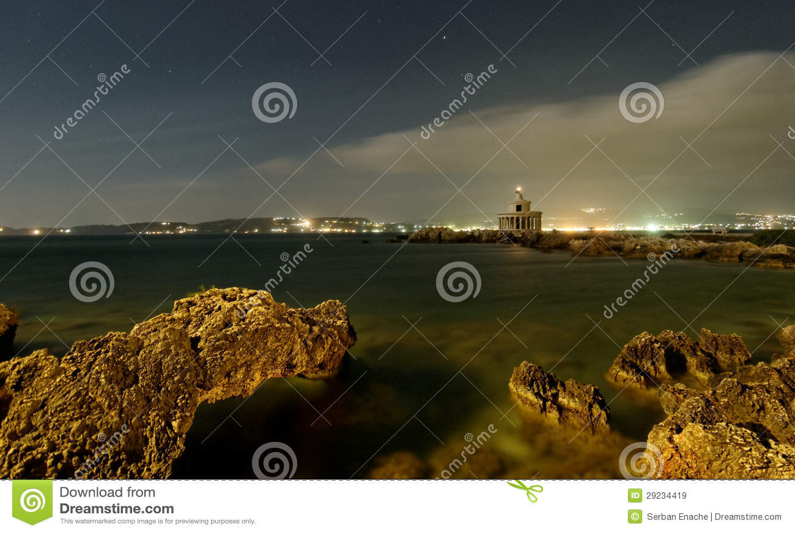 Download Farol de Argostoli imagem de stock. Imagem de baliza - 29234419