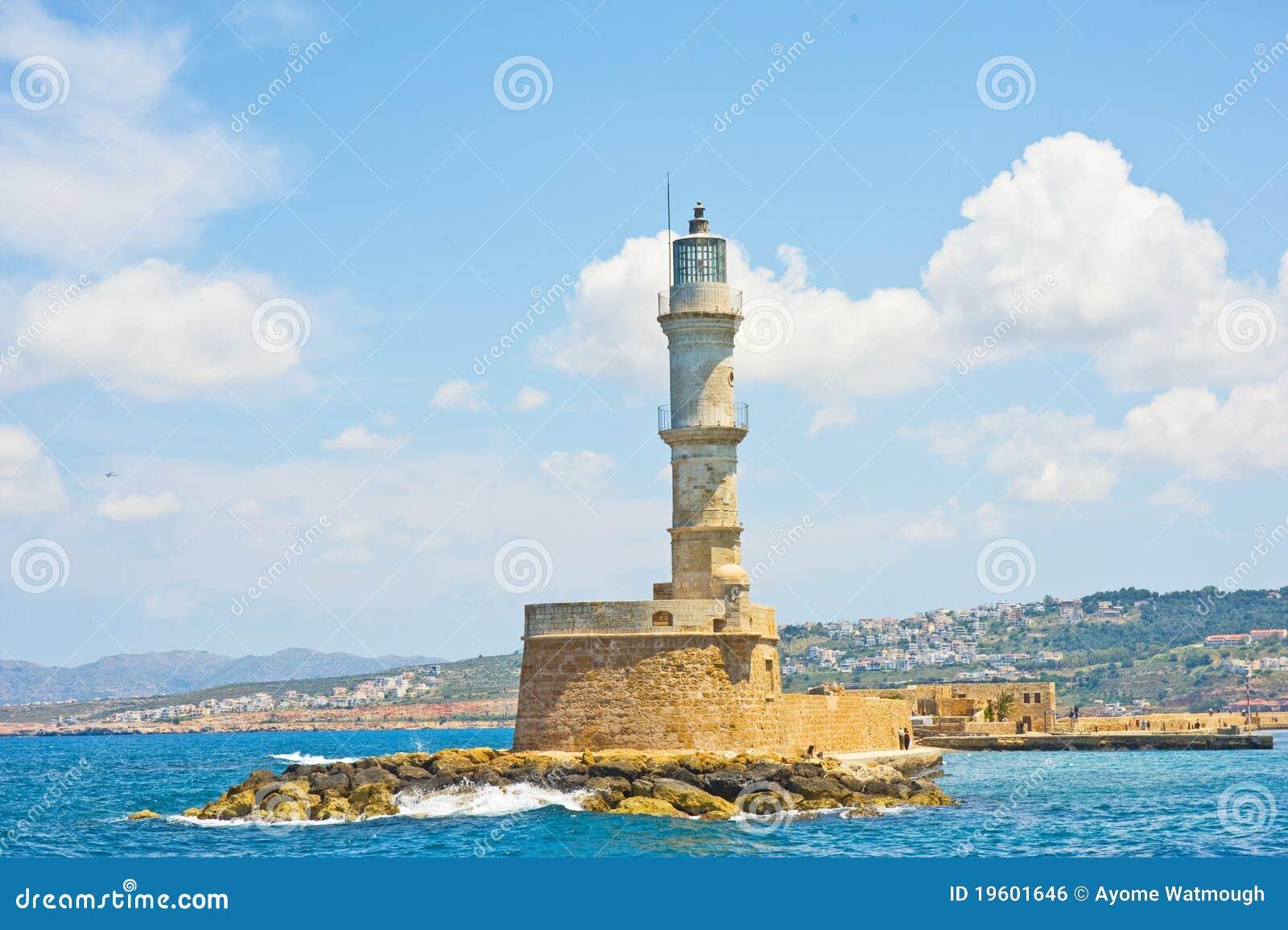 Farol em Chania Crete.