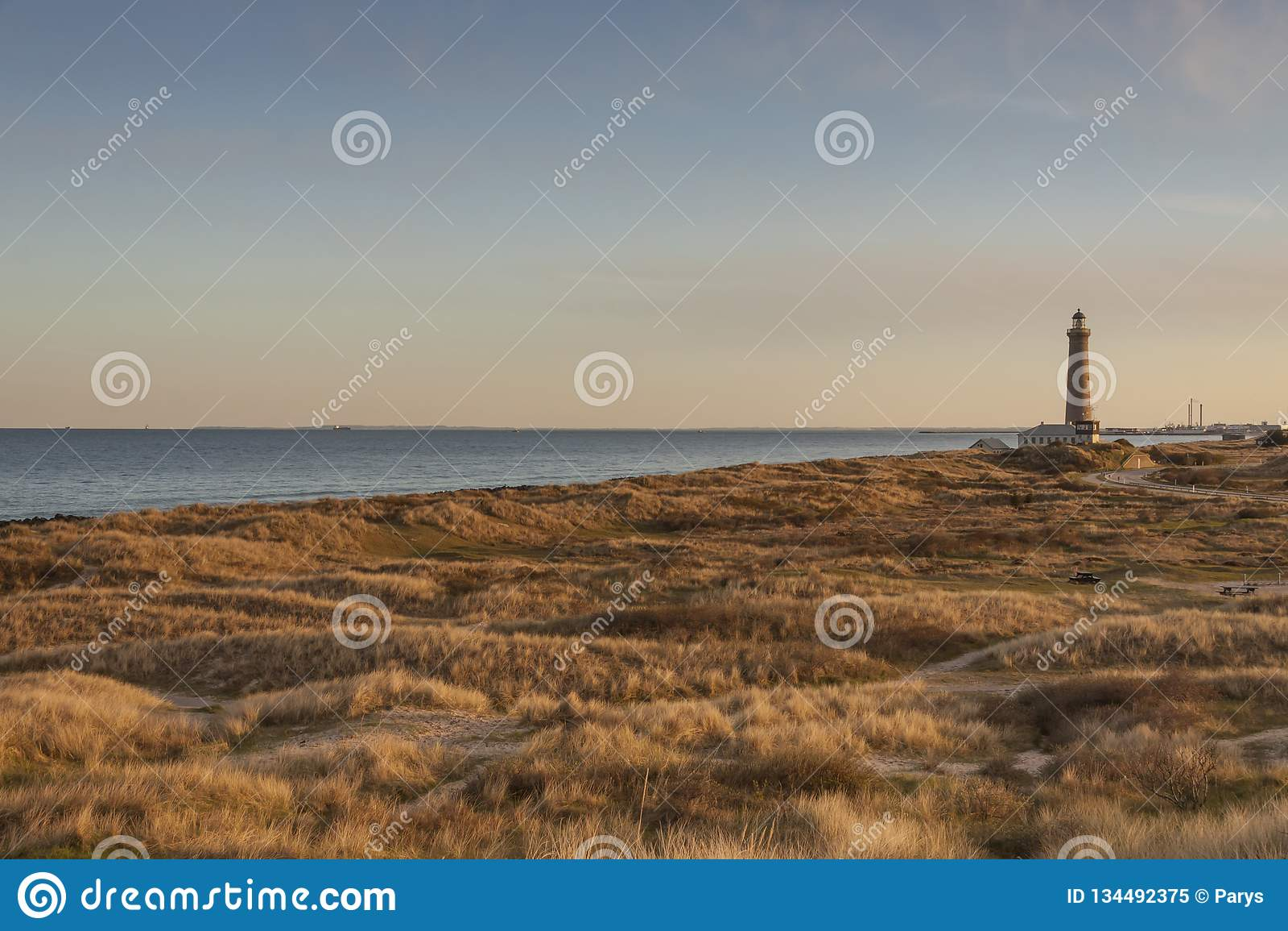 Farol em Skagen em Dinamarca