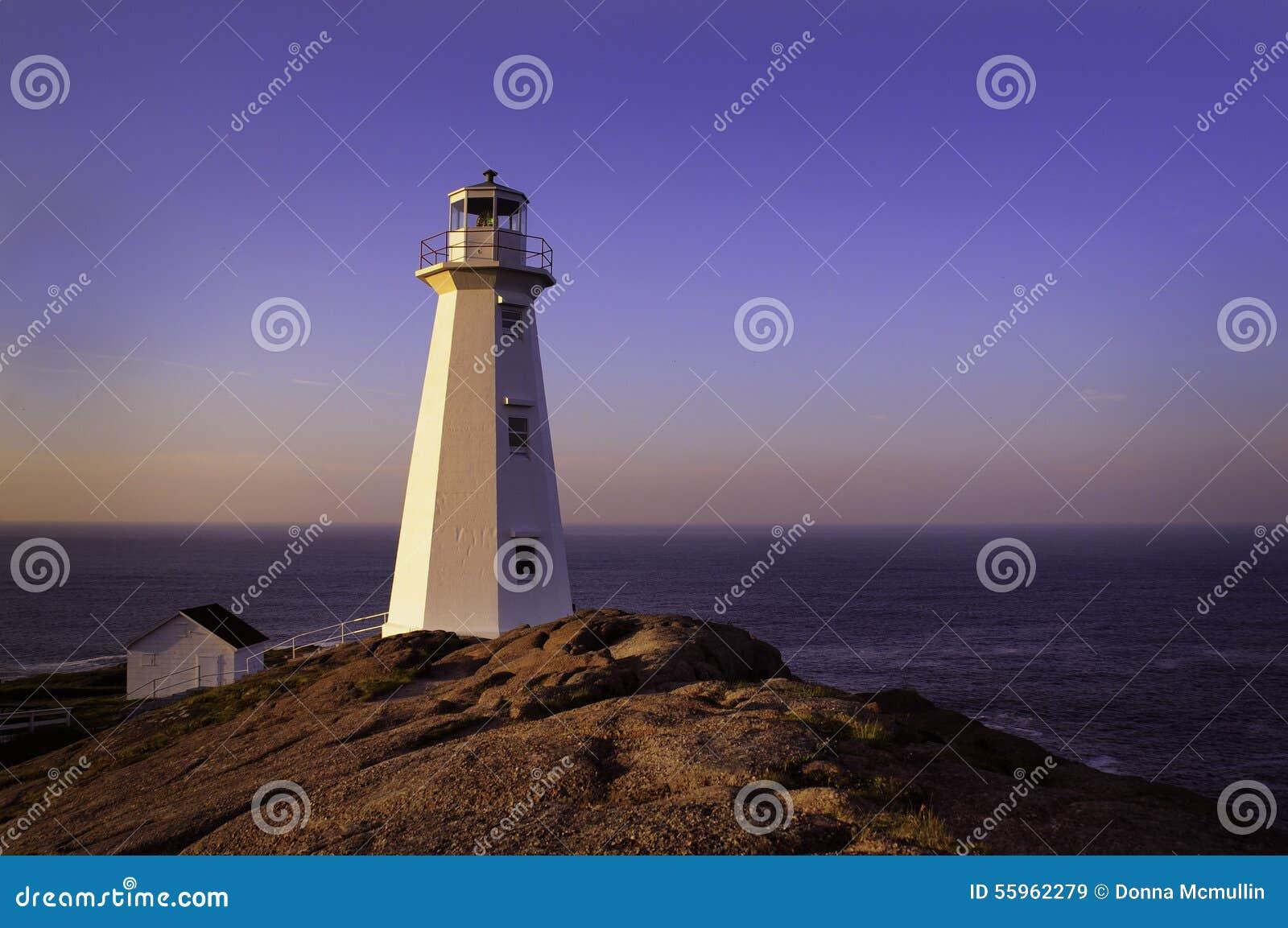 Farol na lança do cabo, Terra Nova