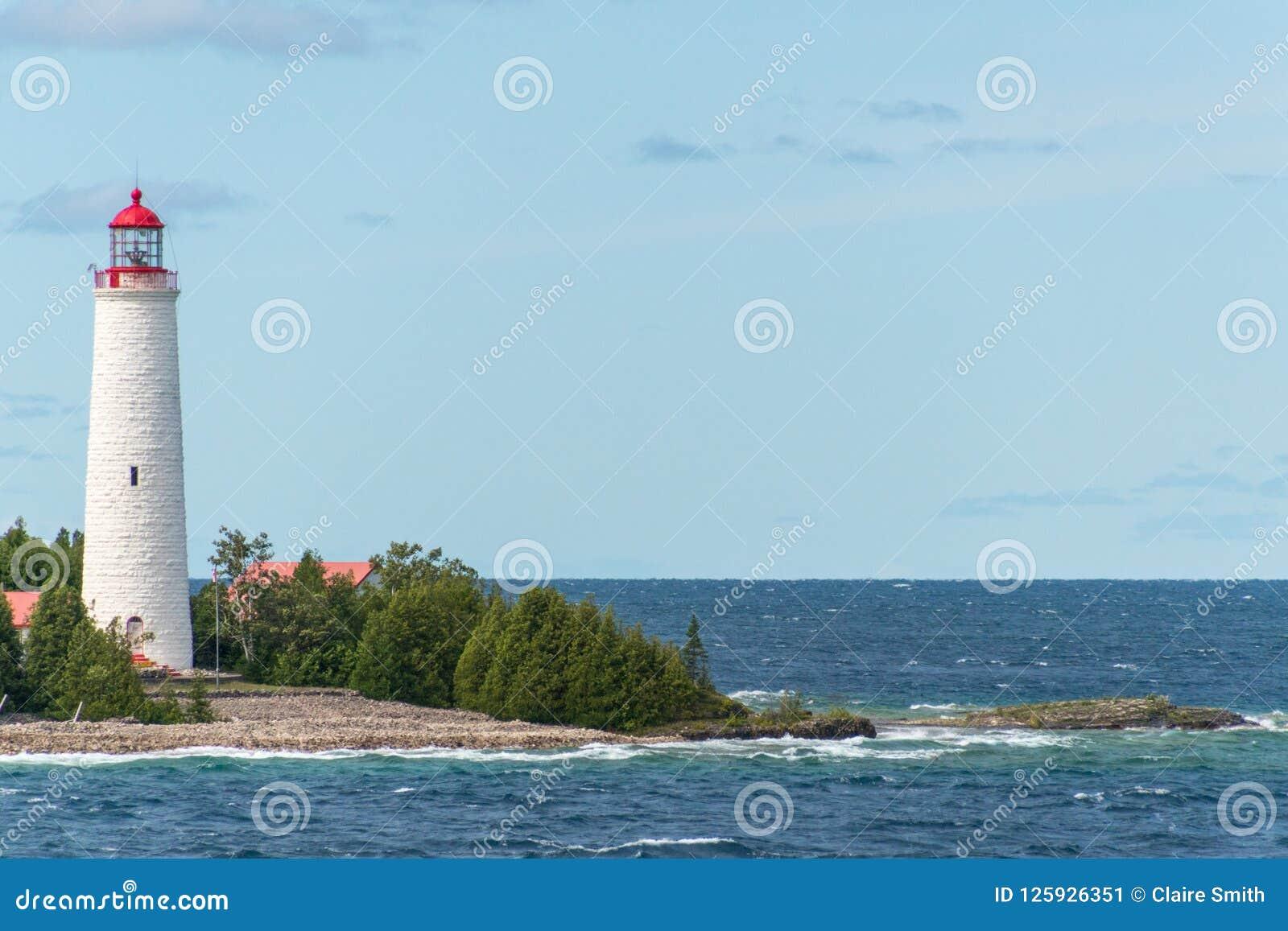 Farol Tobermory da ilha da angra, Bruce Peninsula Landscape