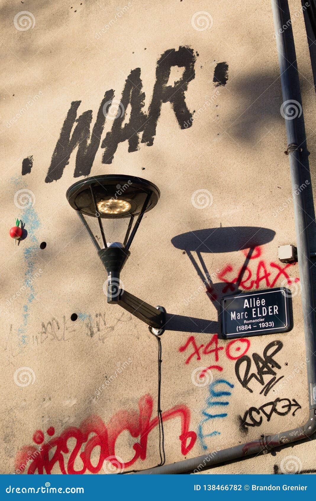 Farola francesa con guerra de la pintada