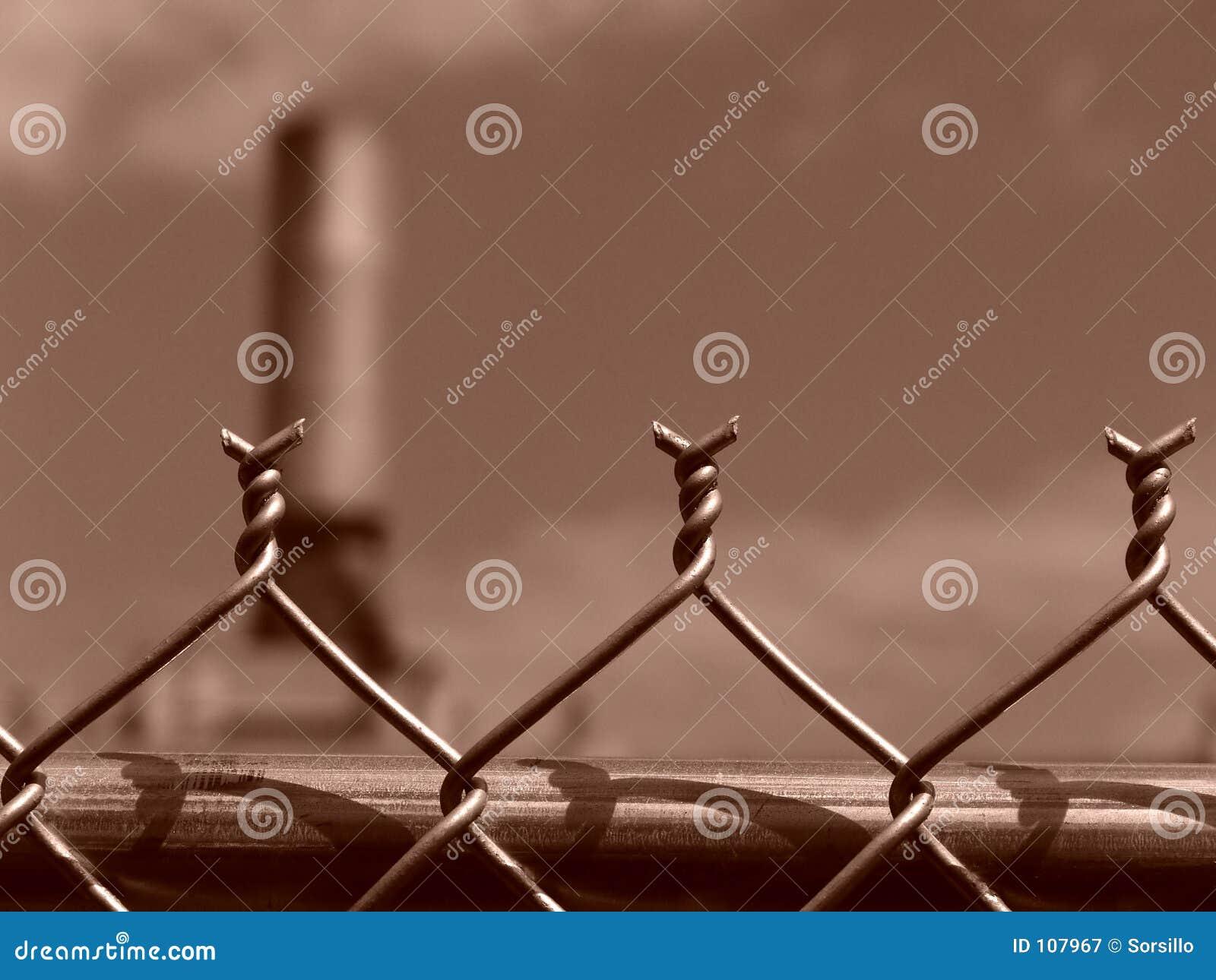 Farpas da cerca da ligação Chain