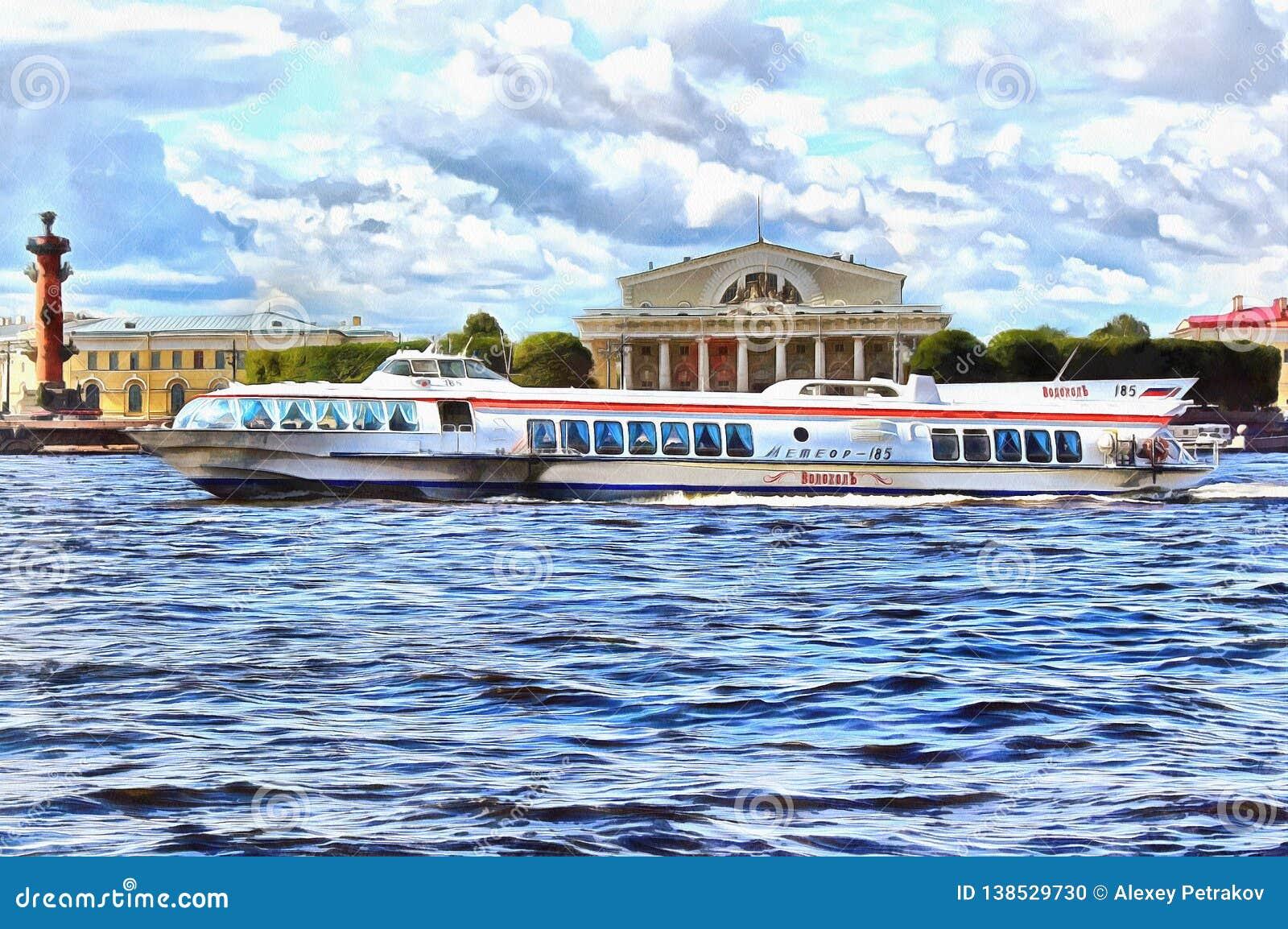 Fartygmeteorflötena på Neva River