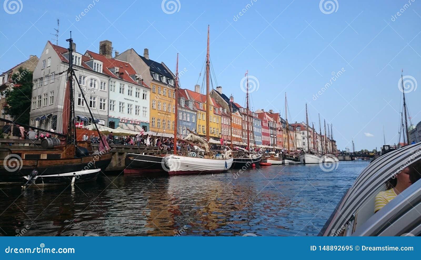 Fartygsikt i K?penhamnen Danmark