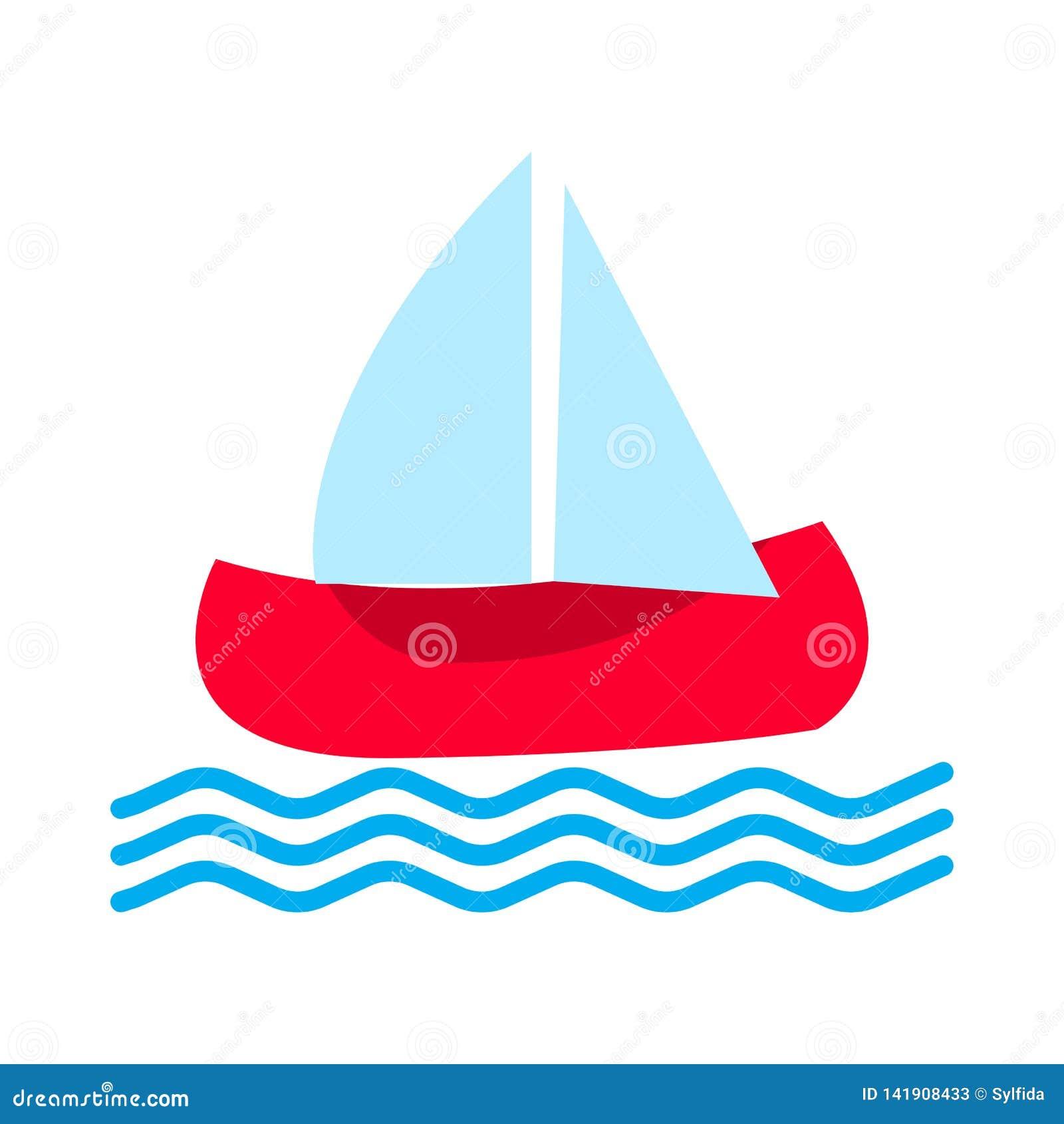 Fartygsymbol också vektor för coreldrawillustration
