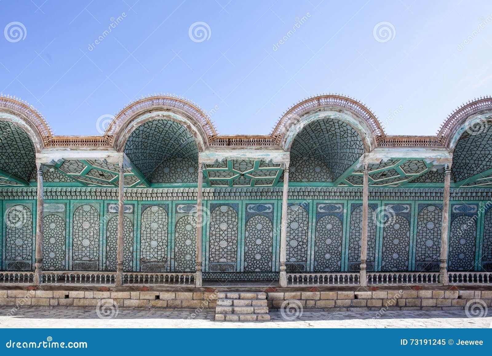 Fasada emira pałac Mohihosa w Bukhara, Uzbekistan, Środkowy Azja