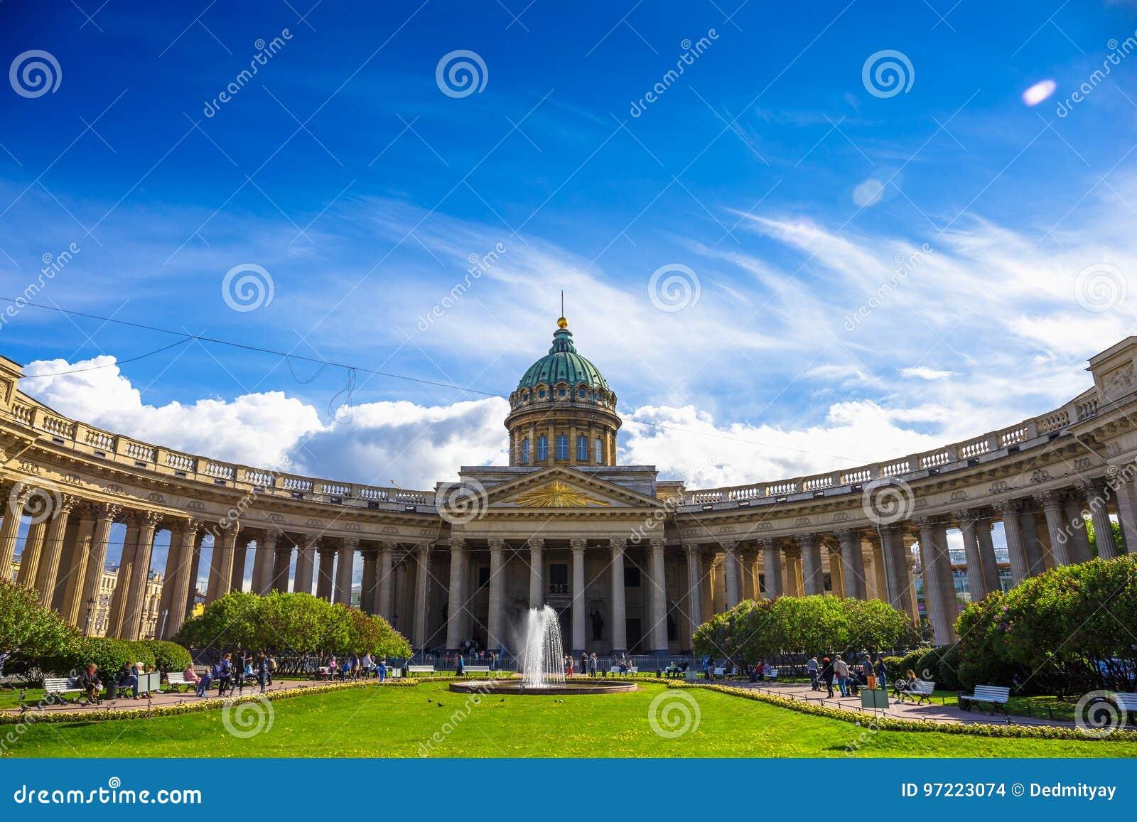 Fasada Kazan katedra, St Petersburg