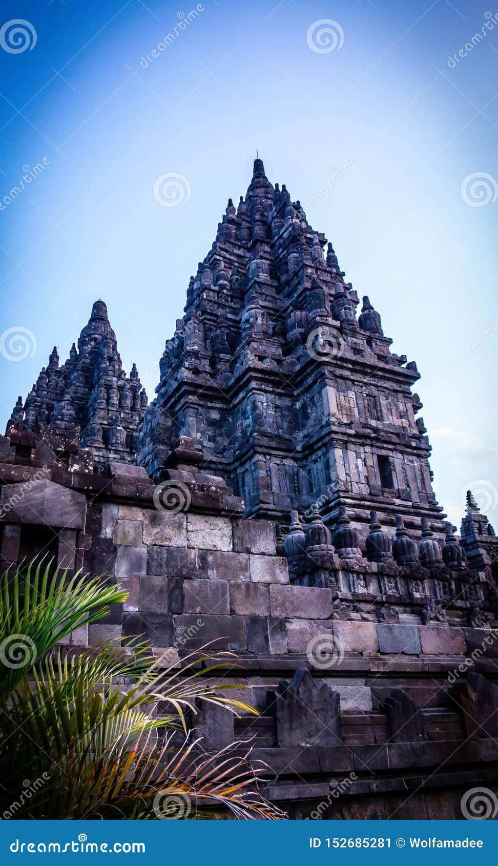 Fasada Prambanan świątynia, Yogyakarta, Indonezja