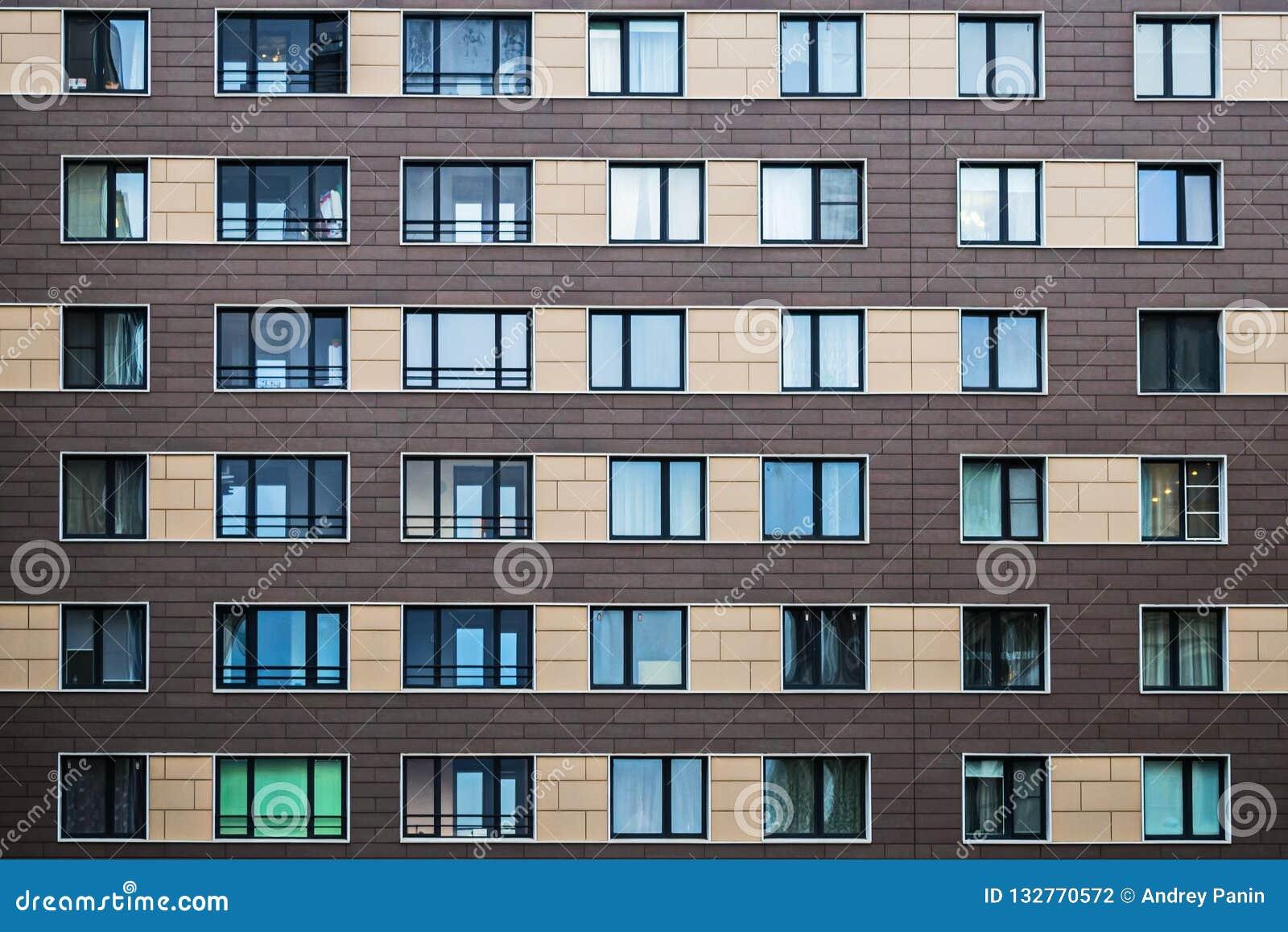 Fasadowi rozwiązania nowi budynki mieszkalni