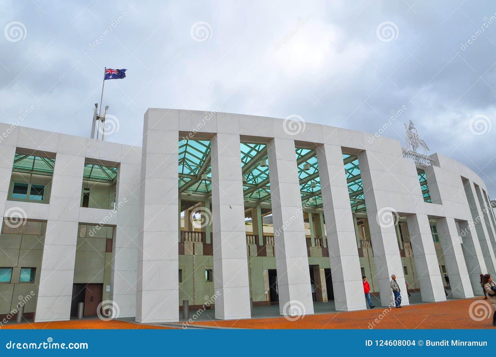 Fasadowy budynek parlamentu dom Australia