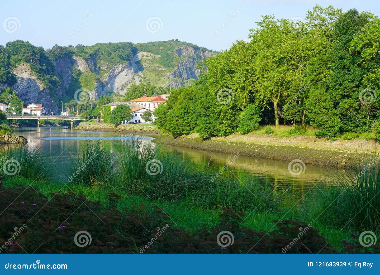 Fasan-Insel auf dem Bidasoa-Fluss zwischen Frankreich und Spanien