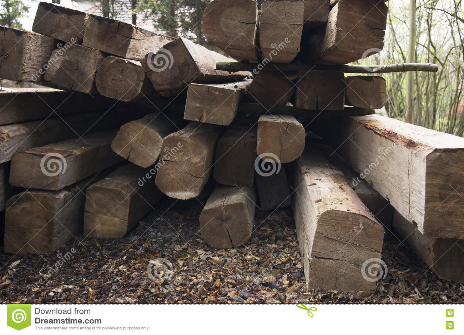 Fasci di legno Tetto che sviluppa le componenti di legno Esterno con materiale da costruzione