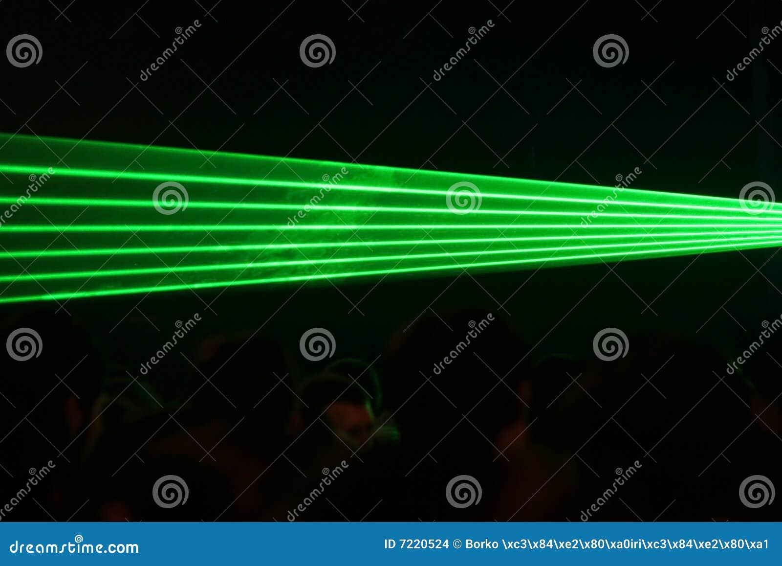 Fasci laser verdi