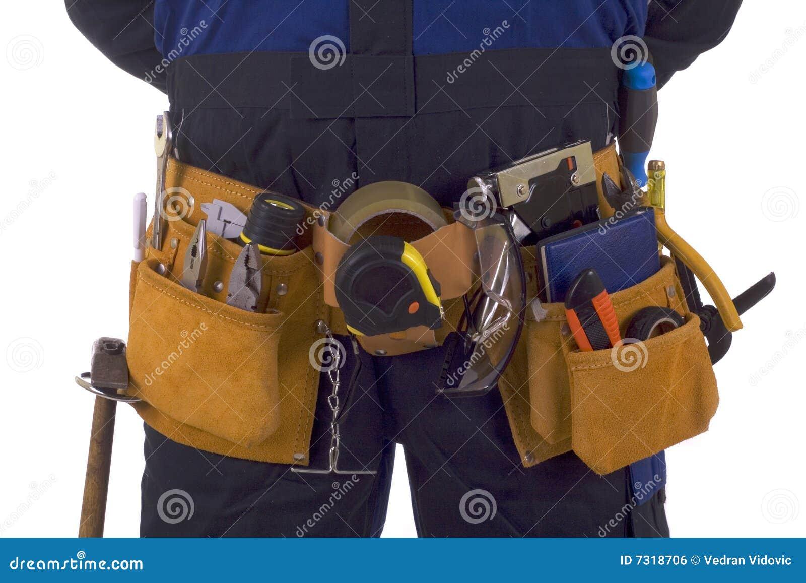 Fascia dello strumento dell operaio di costruzione