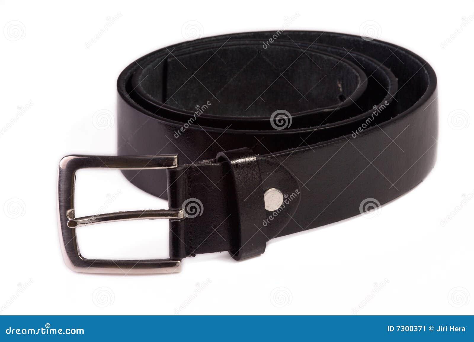Fascia di cuoio nera