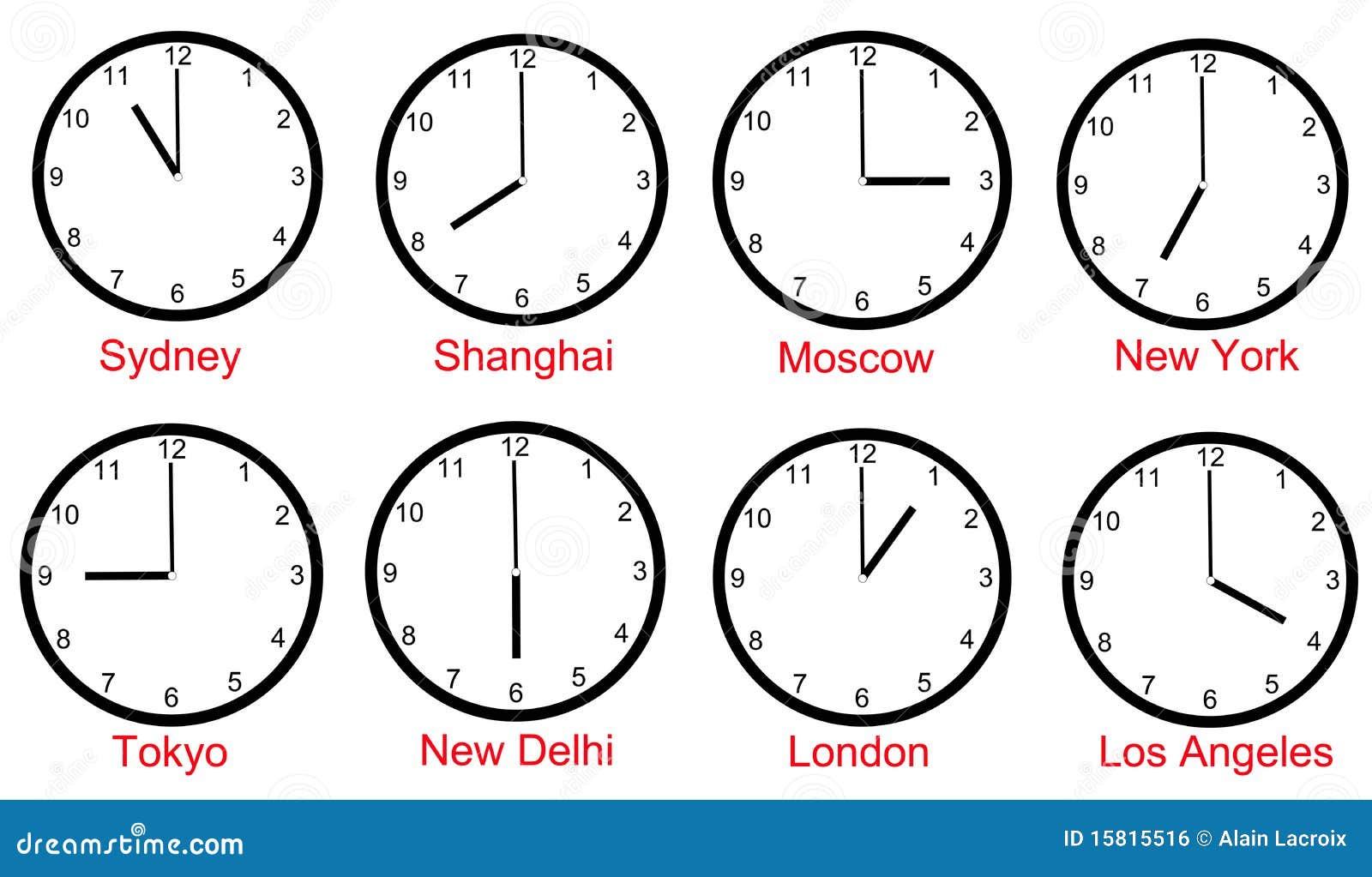 Fascie orarie del mondo