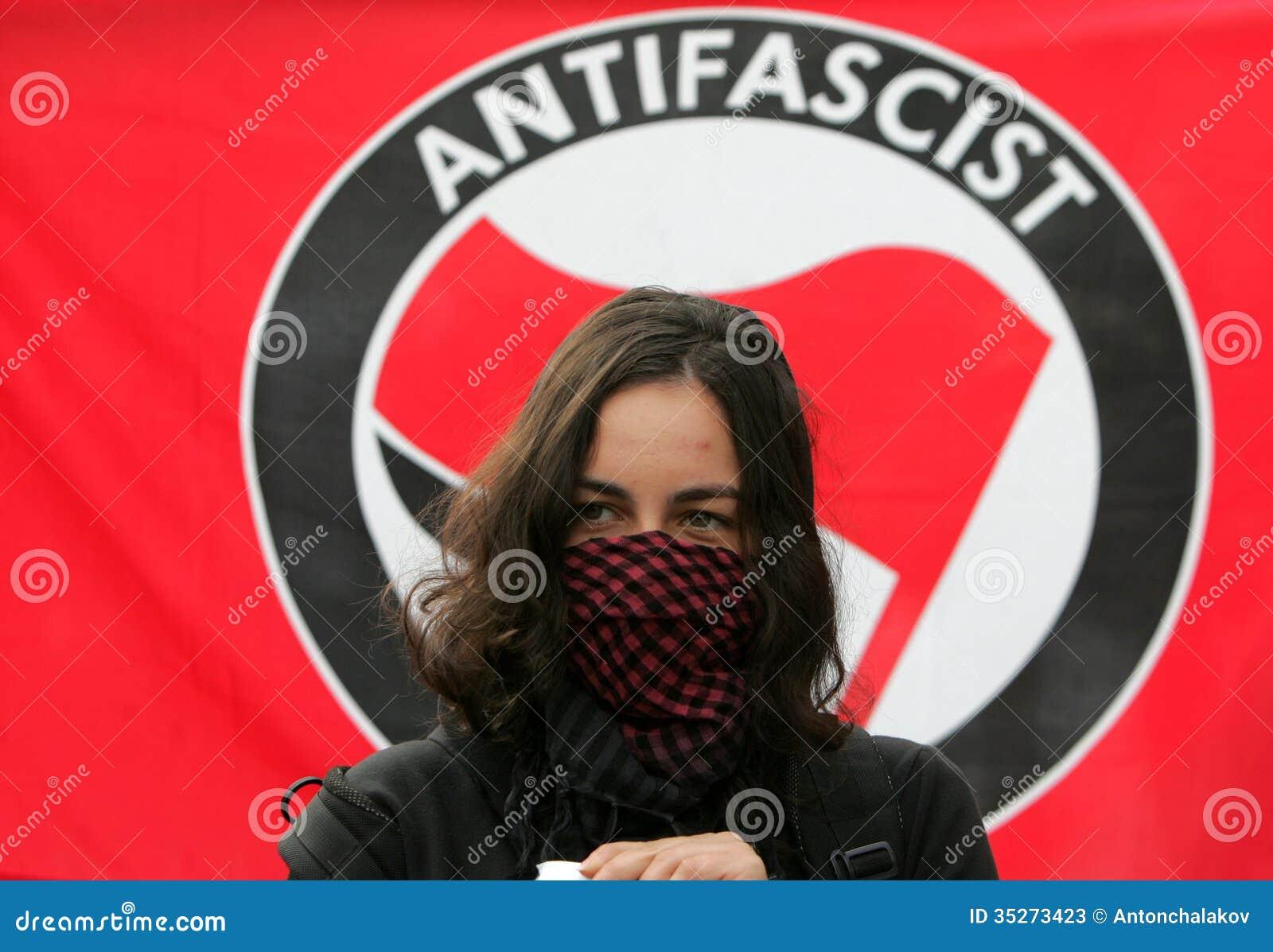 Fasciste Portest de la Bulgarie Sofia Anti
