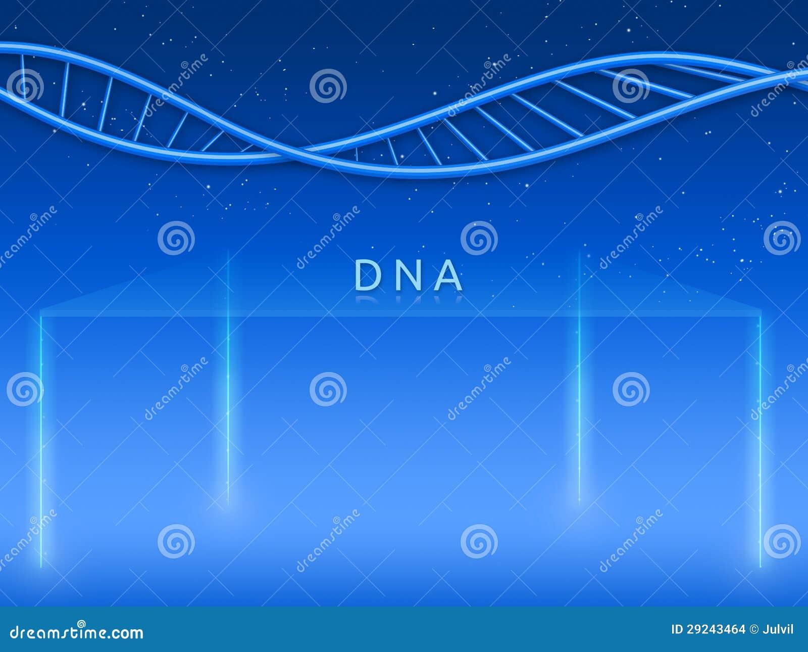 Download Fase de vidro com ADN ilustração stock. Ilustração de cosmos - 29243464