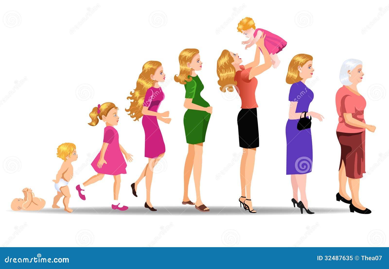 Fases da mulher do desenvolvimento
