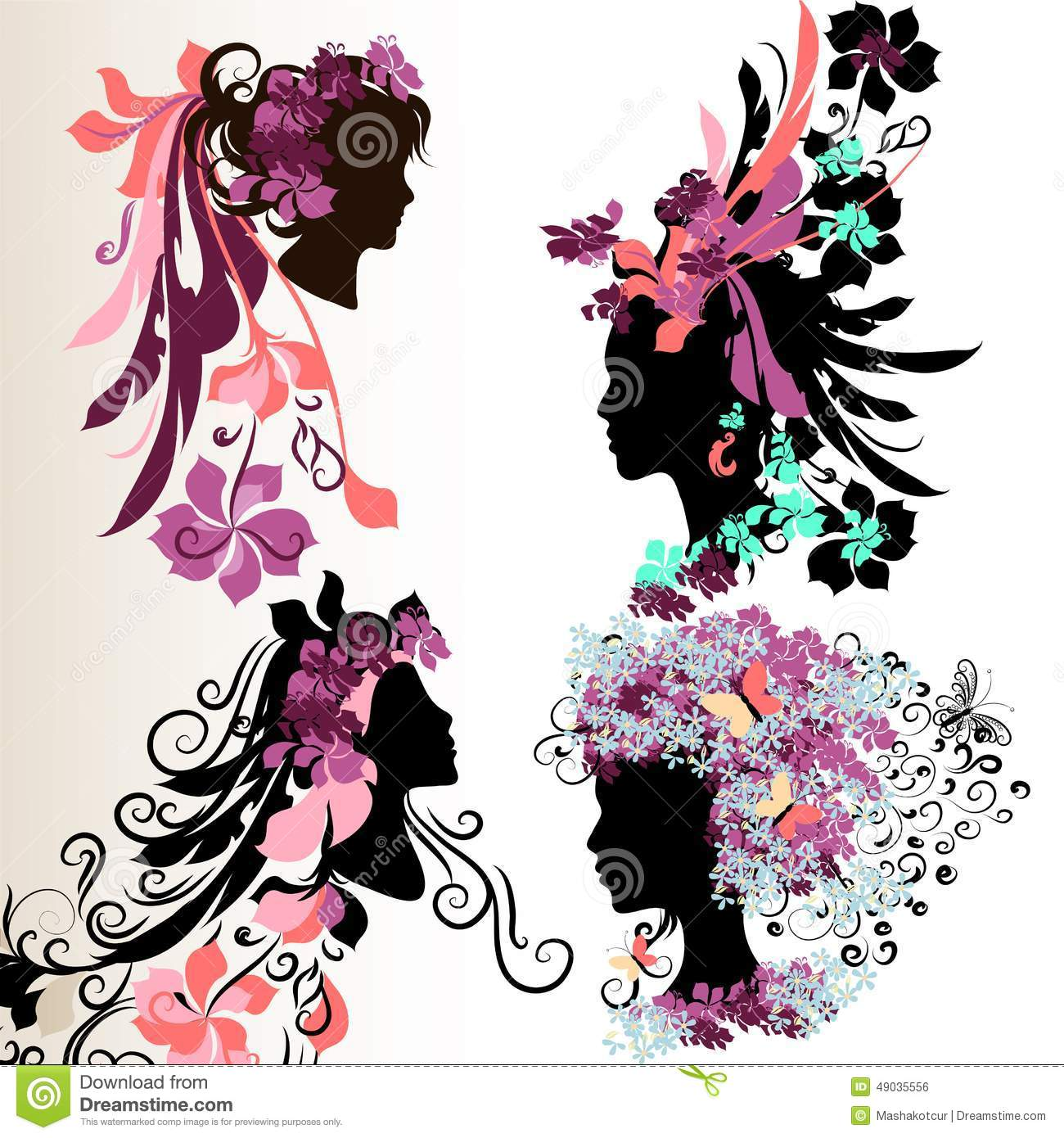 flower girl vector abstract - photo #9