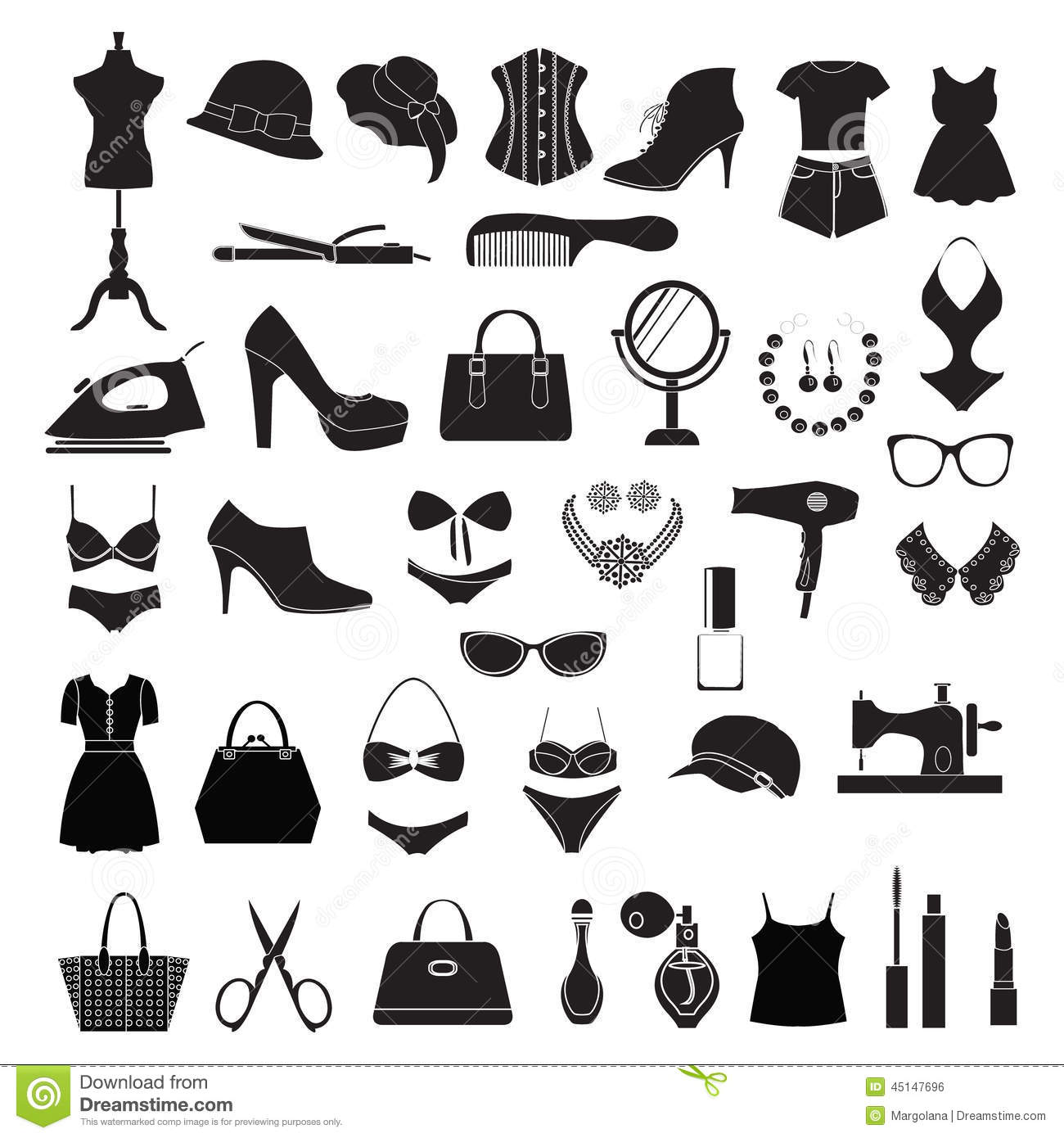 Fashion Accessories - Illustration Stock Vector - Image ...