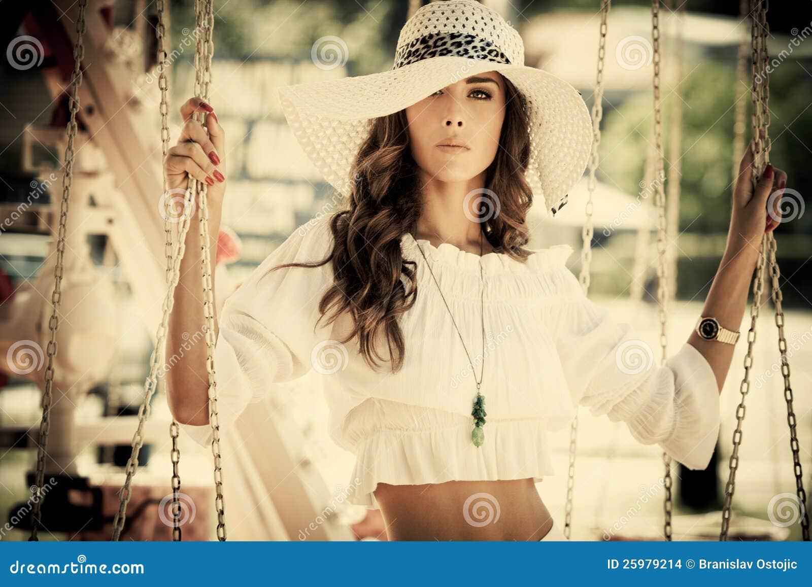 Fashion in amusement park