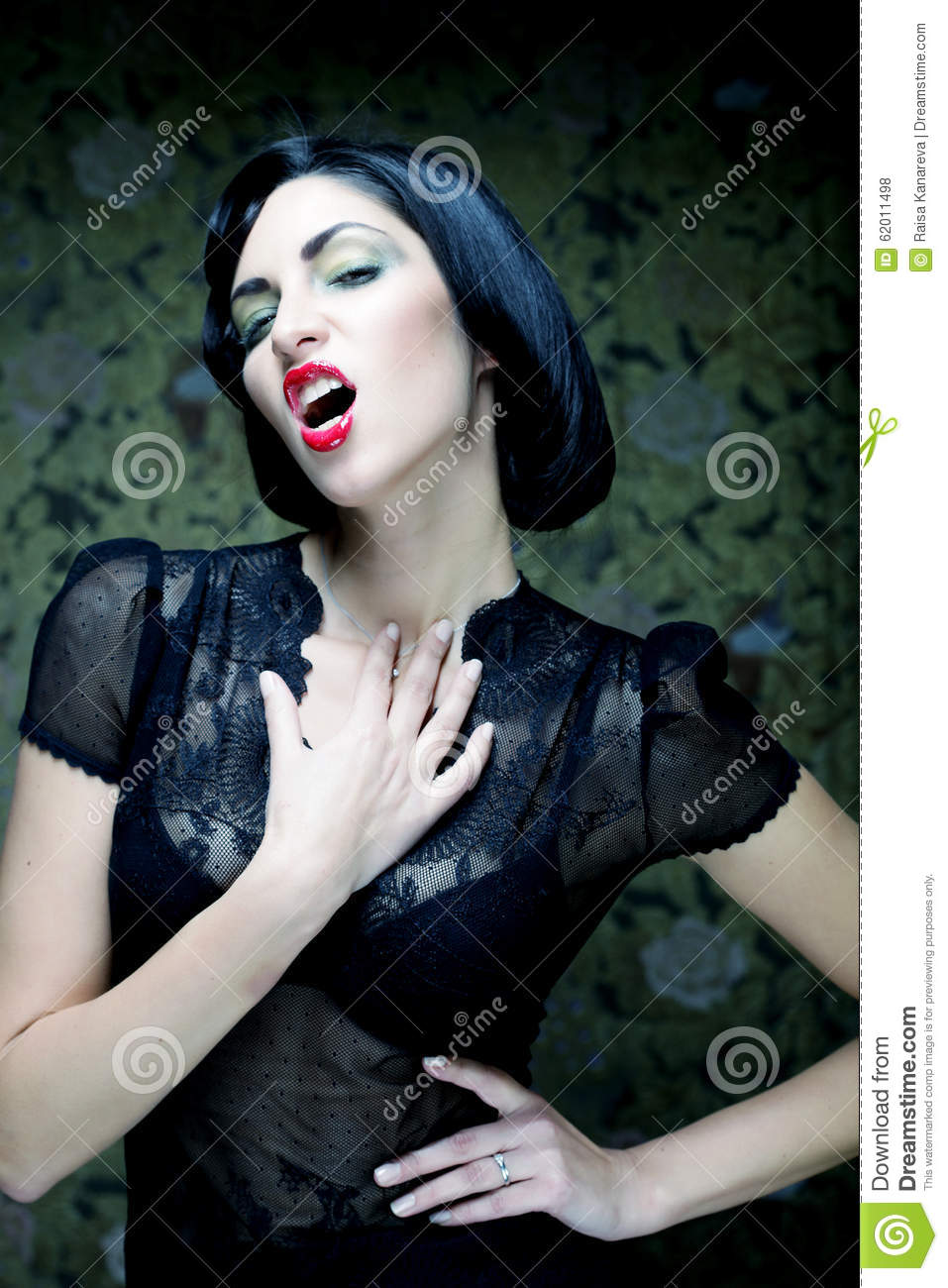Fashion Art Girl Portrait Vamp Style Glamour Vampire Woman Stock Photo Image 62011498