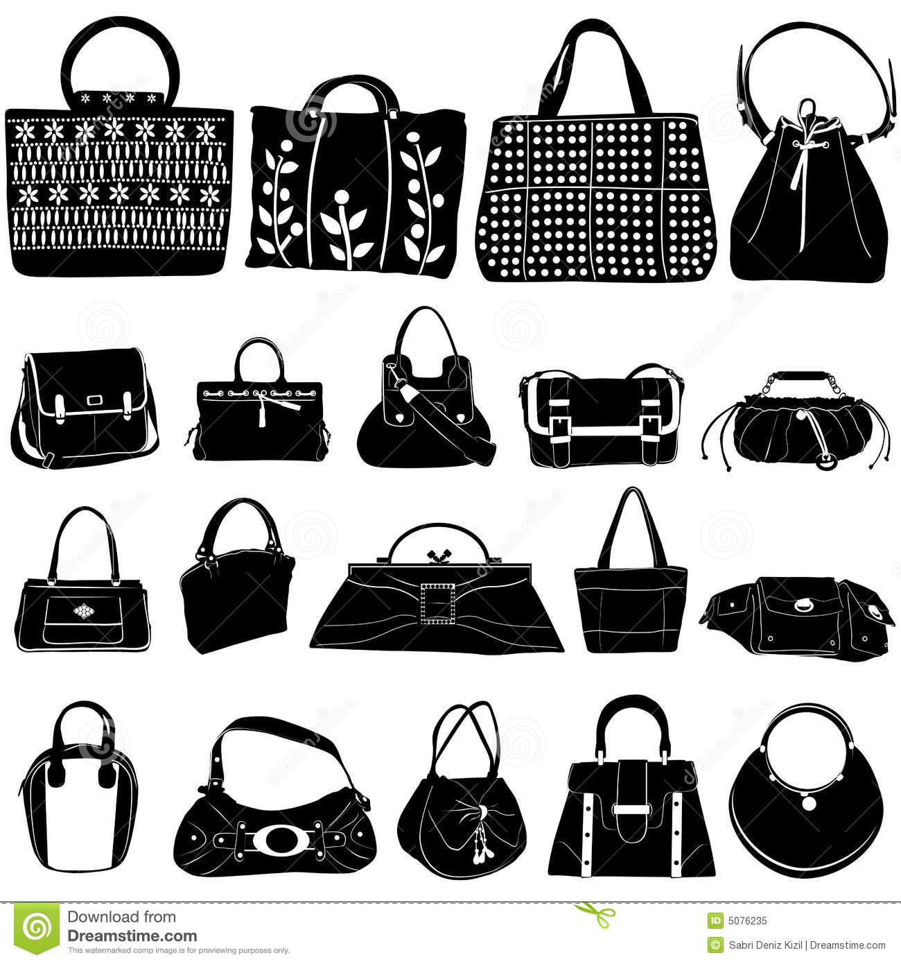 Fashion bag vector