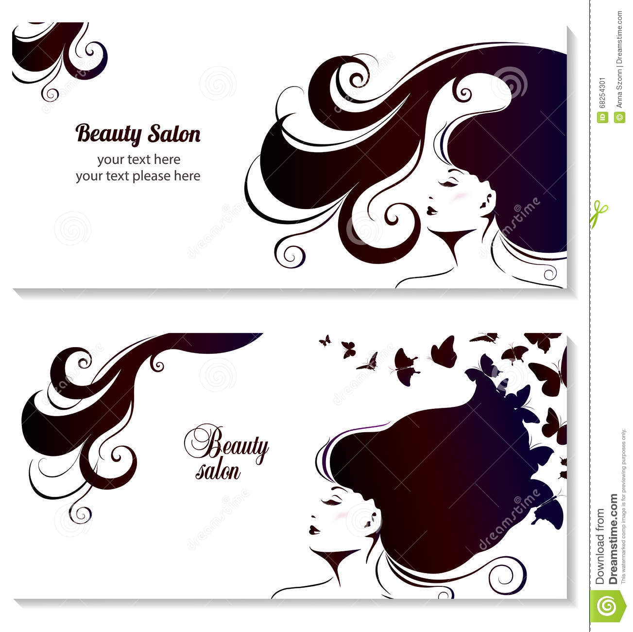 Fashion Banner For Make Up Cosmetic Shopping Stock Vector Illustration Of Hair Hairstyle 68254301