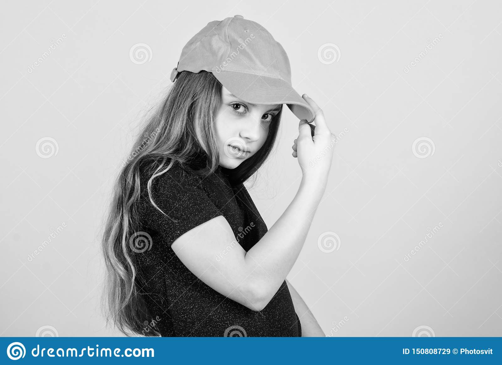 Fashion and beauty. Adorable little girl with adorable fashion look. Small cute fashion model. Fashionable child wearing