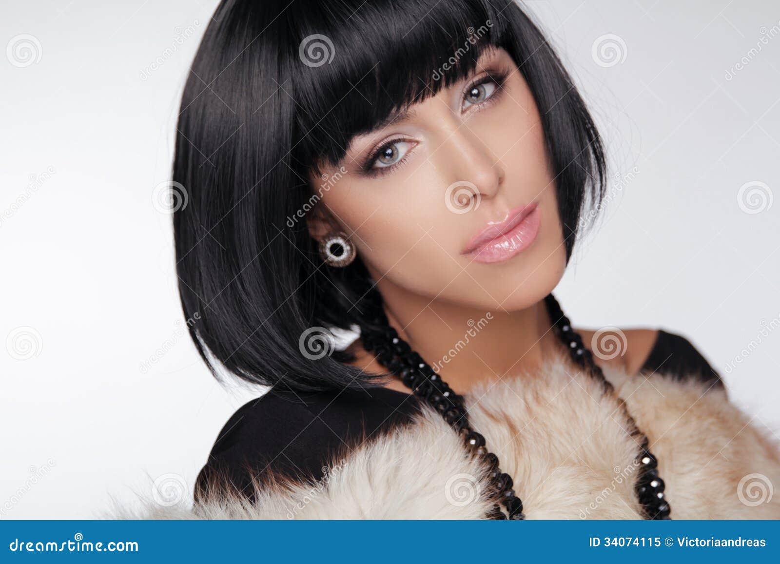 Fashion Beauty Girl. Brunette Woman Portrait. Royalty Free