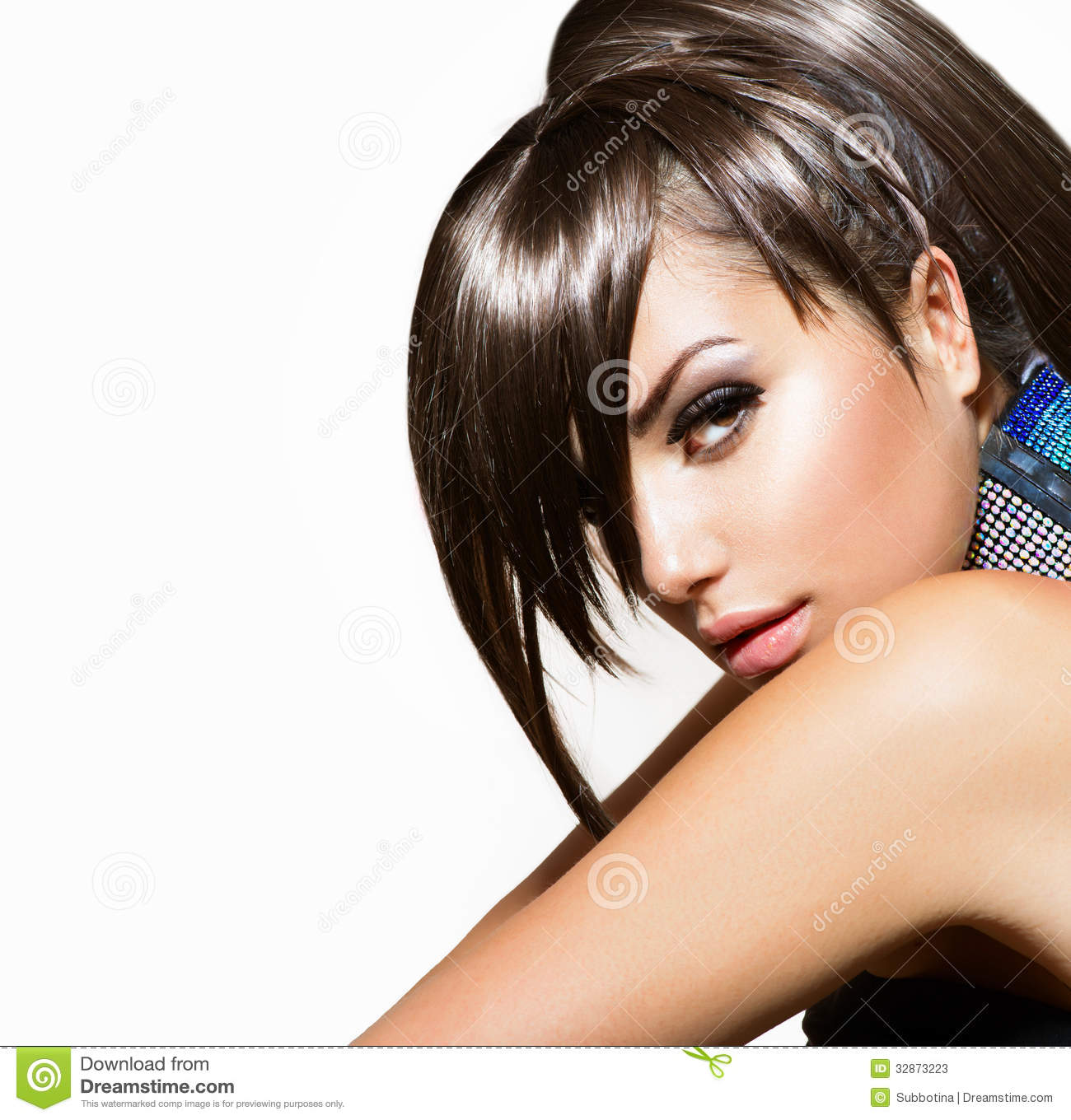 Fashion Beauty Girl stock image. Image of gorgeous, fringe ...