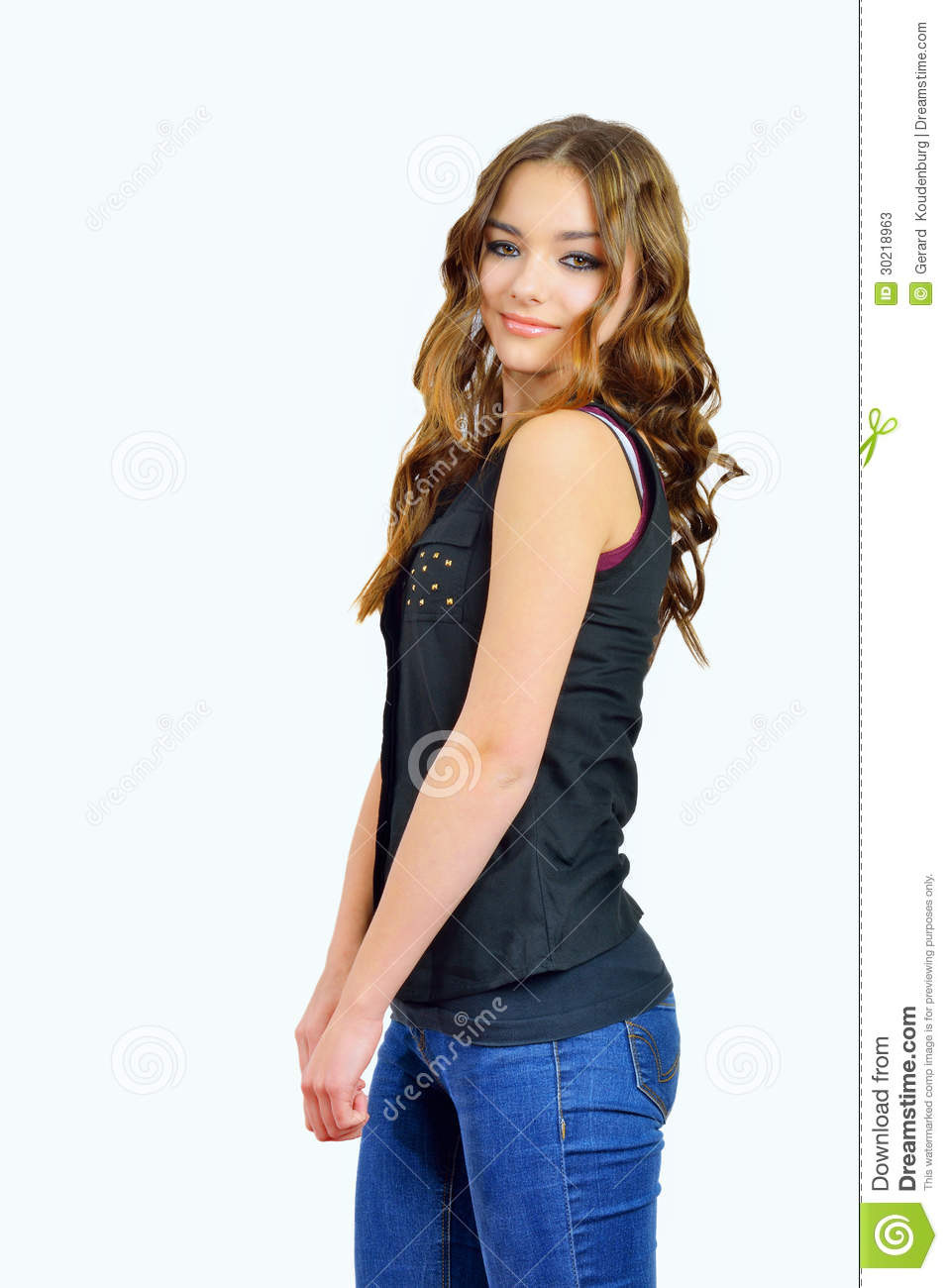 Fashion girl in blue jeans stock photos image 30218963 Ciaafrique fashion beauty style