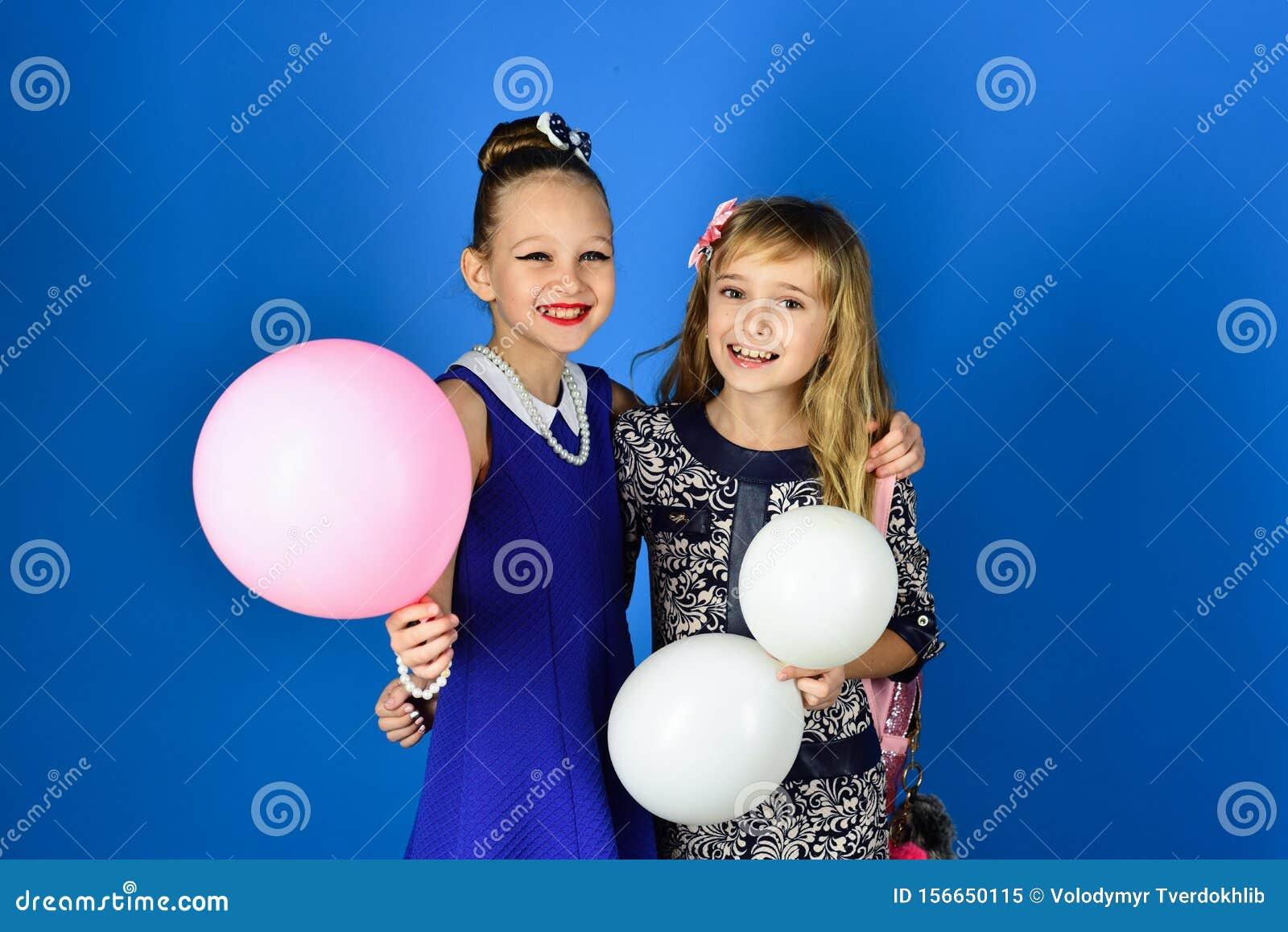 Fashion and beauty, little princess. Family fashion model sisters, beauty. Little girls in fashionable dress, prom