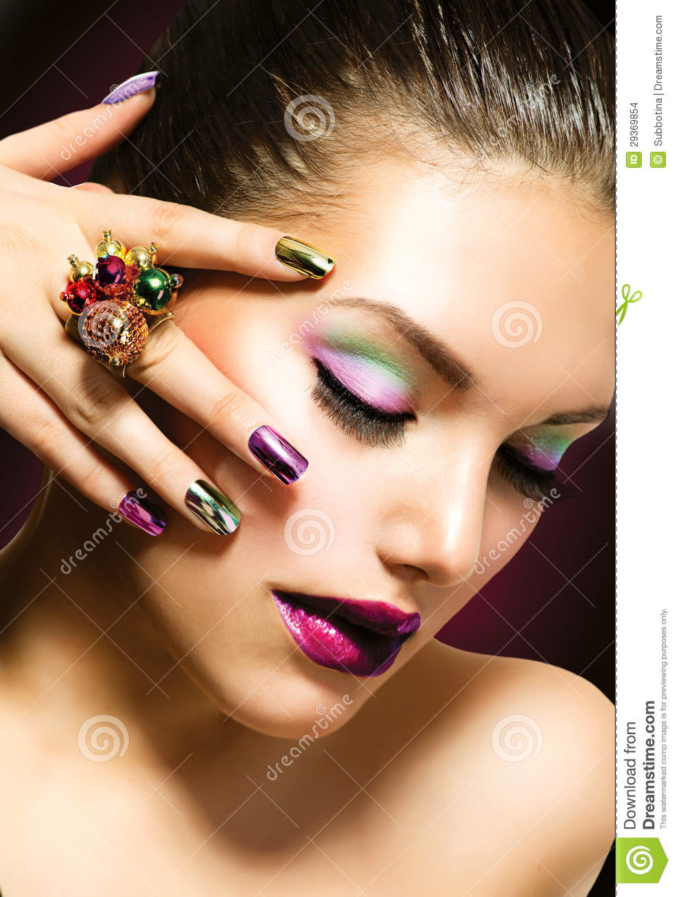 Fashion Beauty Manicure And Makeup Stock Photo Image 29369854