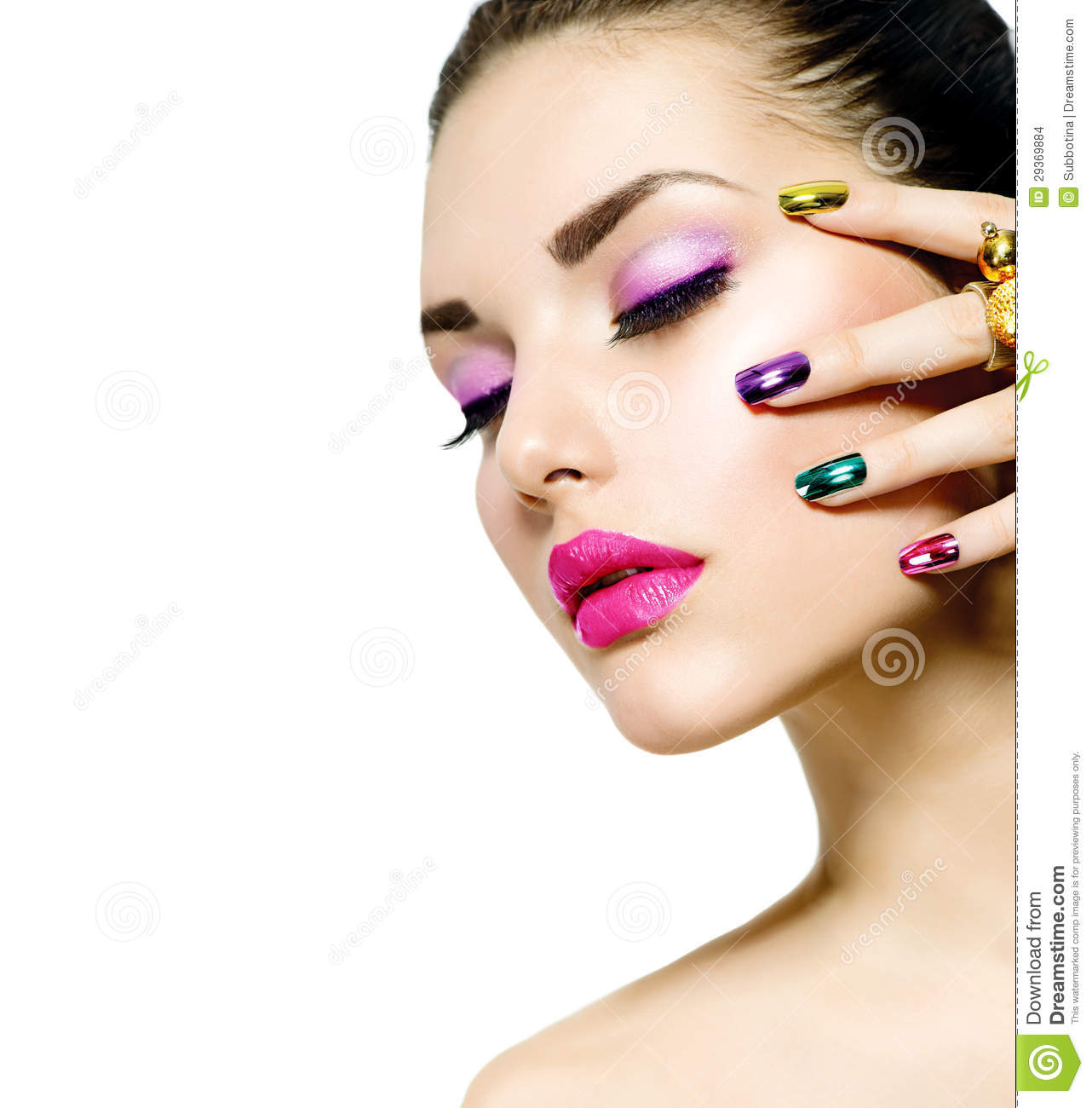 All 4u Hd Wallpaper Free Download Beautiful Nail Art: Fashion Beauty. Manicure And Makeup Stock Photo