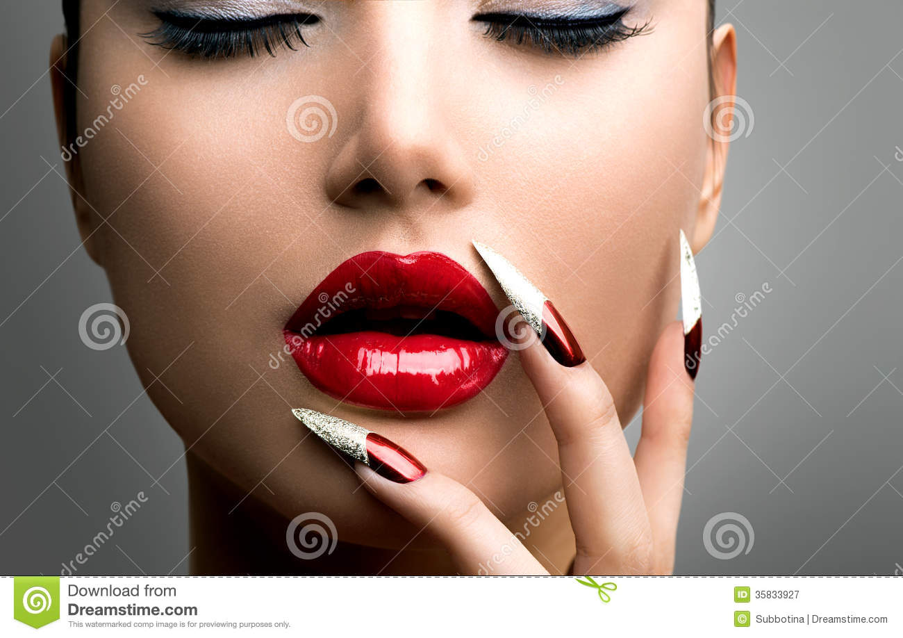Fashion Beauty Model Girl Stock Image. Image Of Make