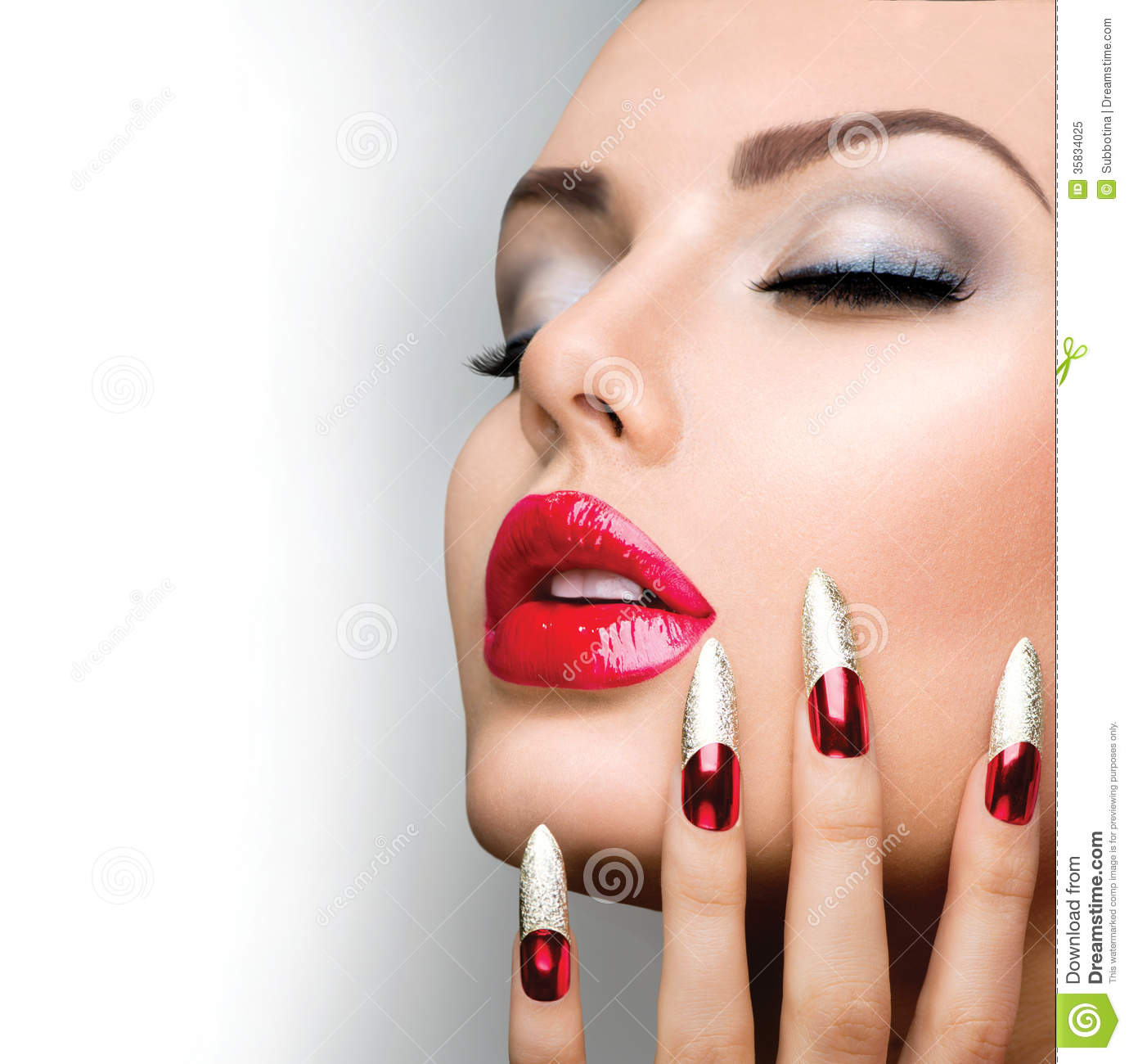 Fashion Beauty Model Girl Royalty Free Stock Photo