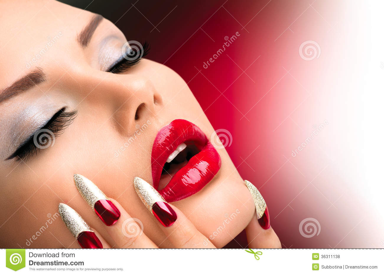 Fashion Beauty Model Girl Royalty Free Stock Photos