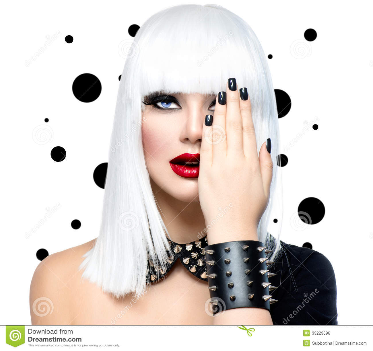 Fashion Beauty Model Girl Stock Photo. Image Of Bdsm