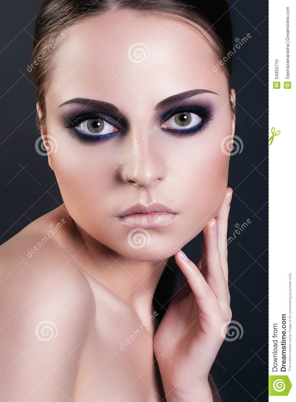 Fashion Beauty Portrait Of Attractive Young Woman With