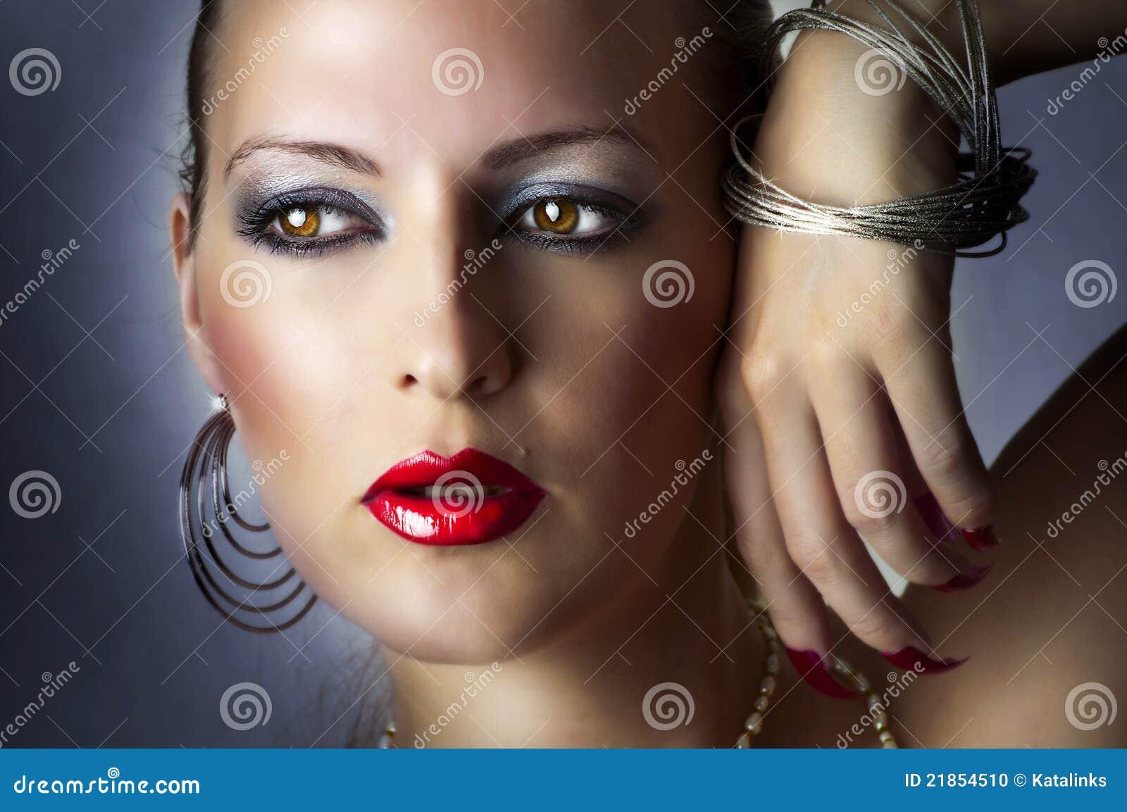 Fashion Beauty Portrait Of Sexy Girl. Stock Photo