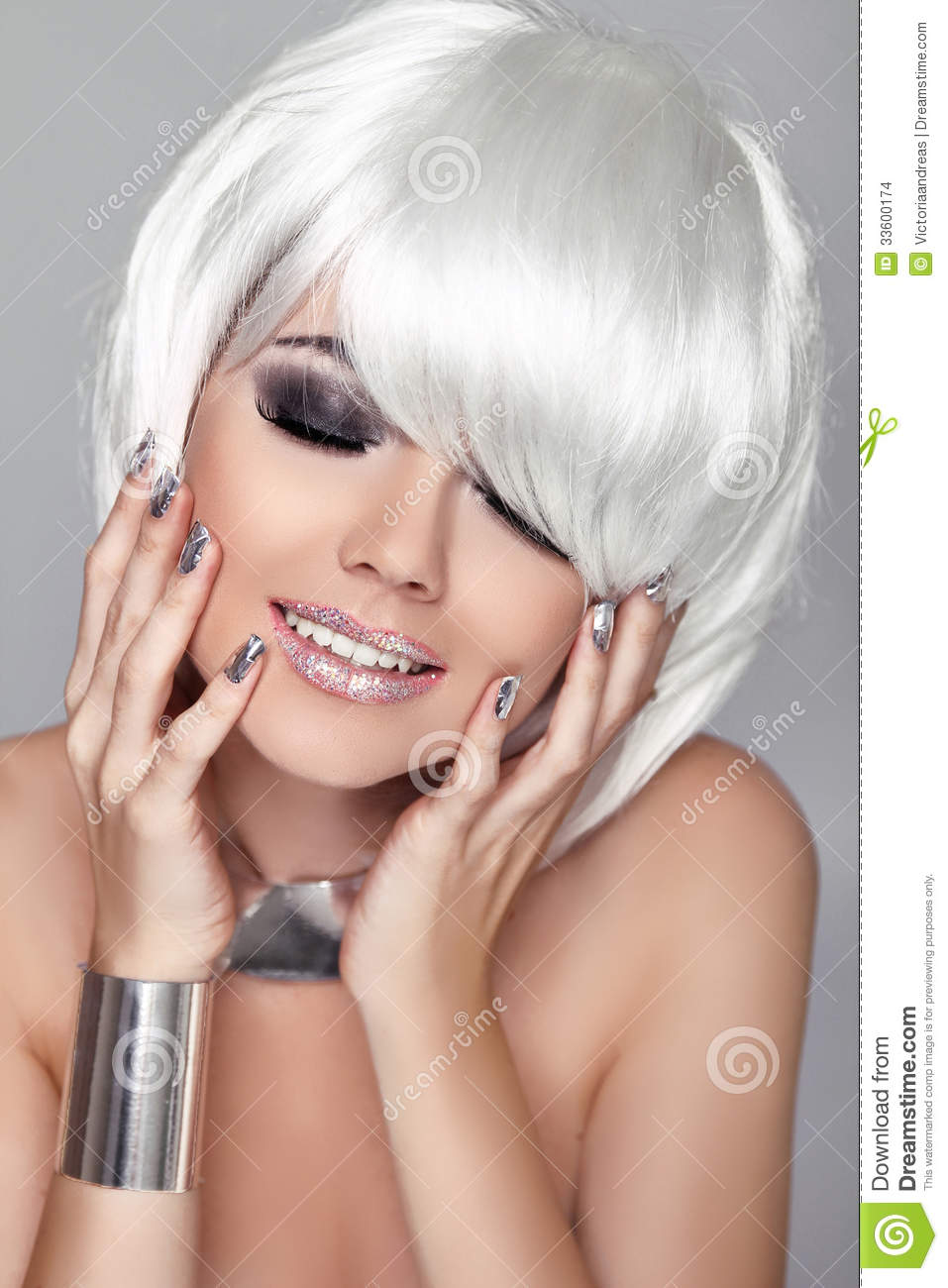haircuts for white hair portrait of hair stock image 4565