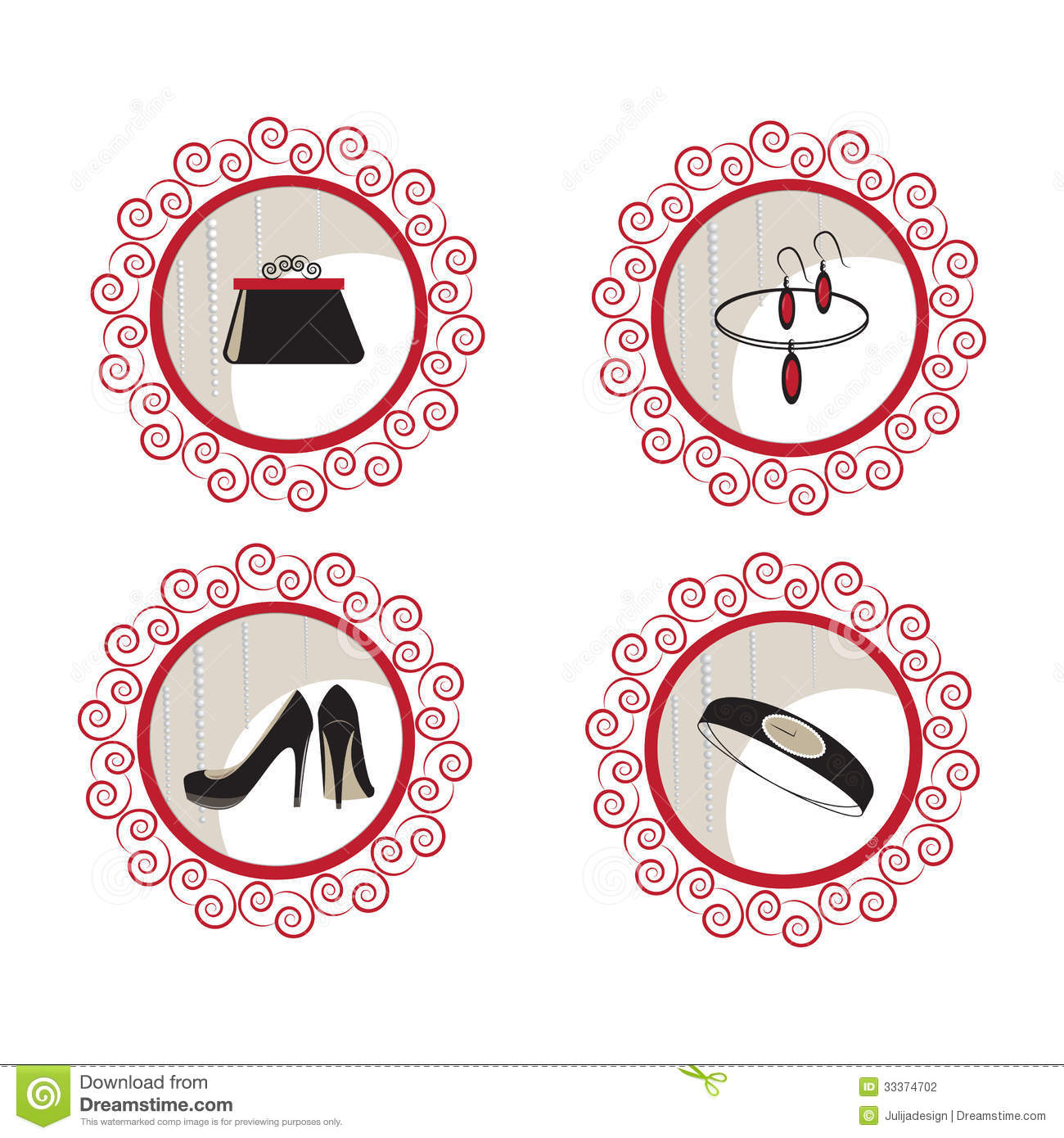 Fashion And Beauty Vector Icons Stock Vector Illustration 33374702