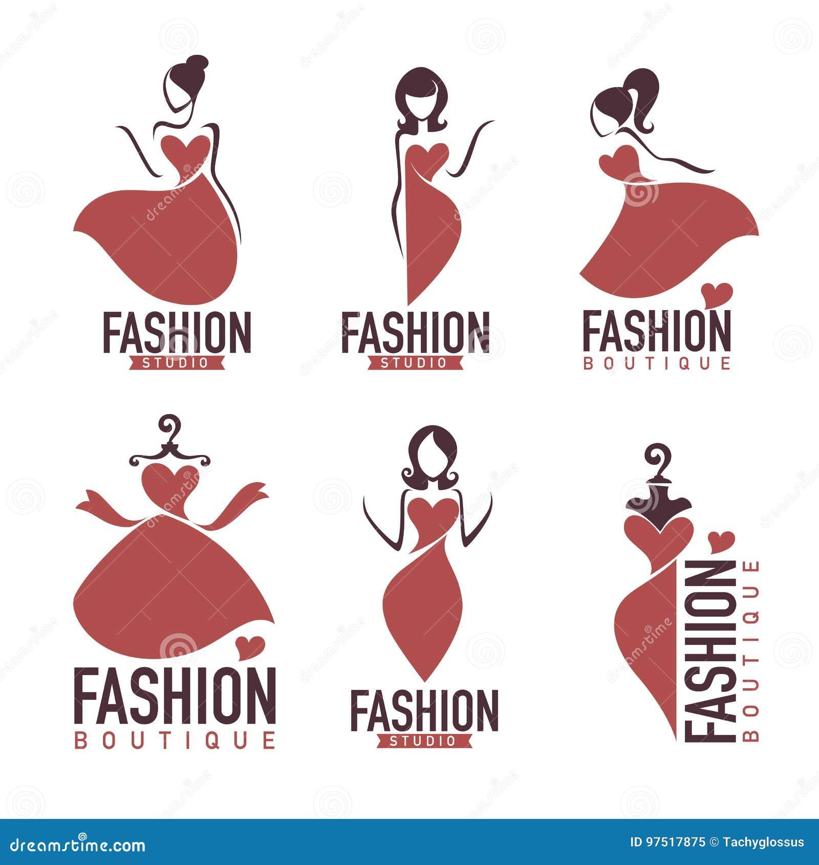 Fashion And Beautysalon, Studio , Boutique Logo Stock