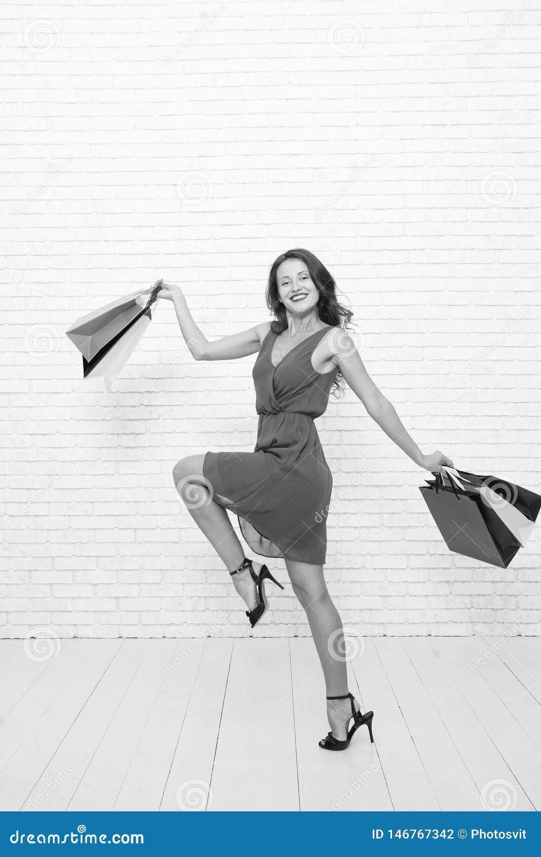 Fashion Black Friday Sales Happy Woman Go Shopping Happy Shopping Online Happy Holidays Last Preparations Big Sale Stock Photo Image Of Consumerism Ideas 146767342
