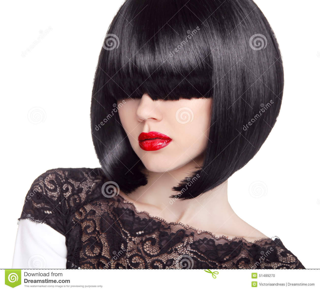 vogue hair style fashion bob haircut hairstyle fringe hair 6891