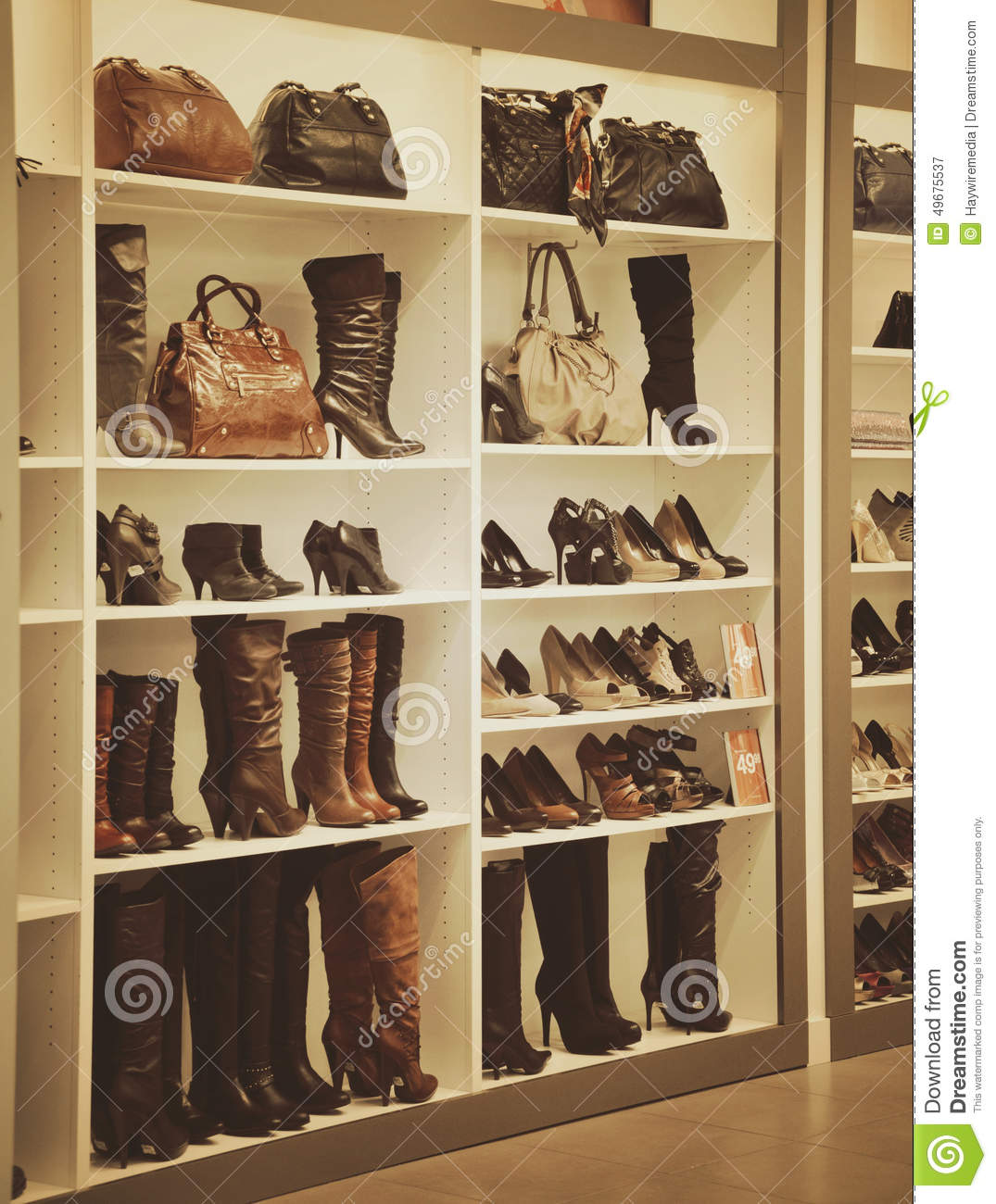Image clothing store shoes