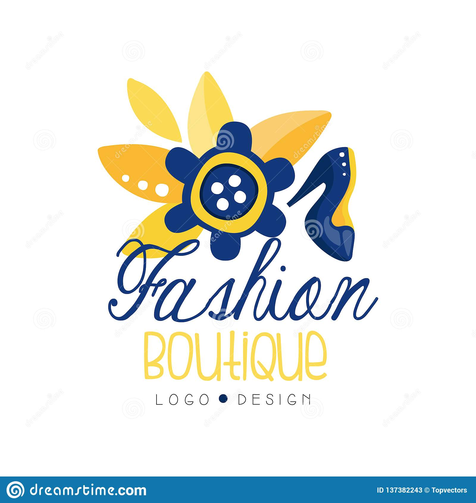 Fashion Boutique Logo Design Clothes Shop Dress Store Label Vector Illustration Stock Vector Illustration Of Design Label 137382243